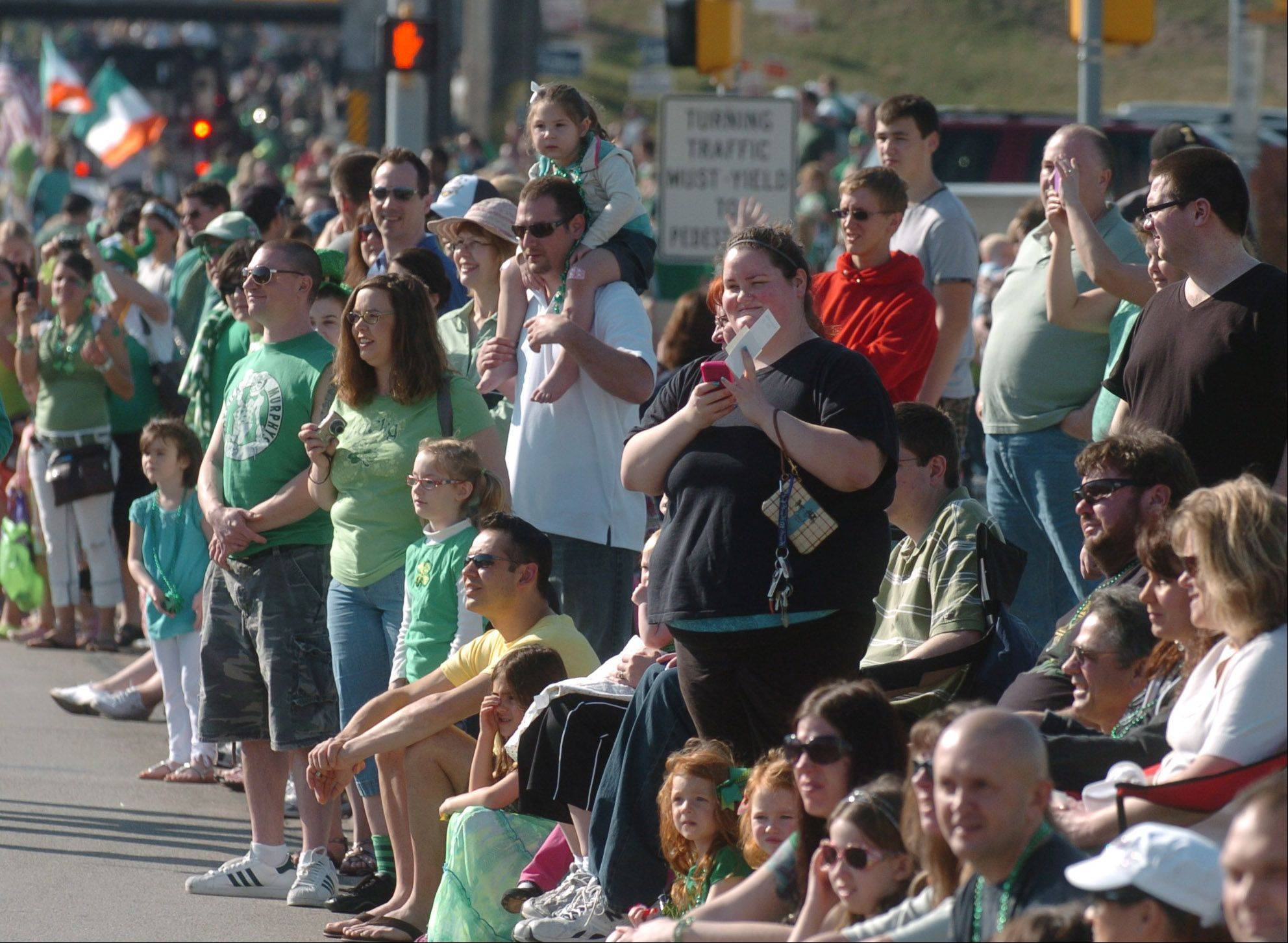 The St. Patricks day parade in Naperville Saturday was complemented by great weather.