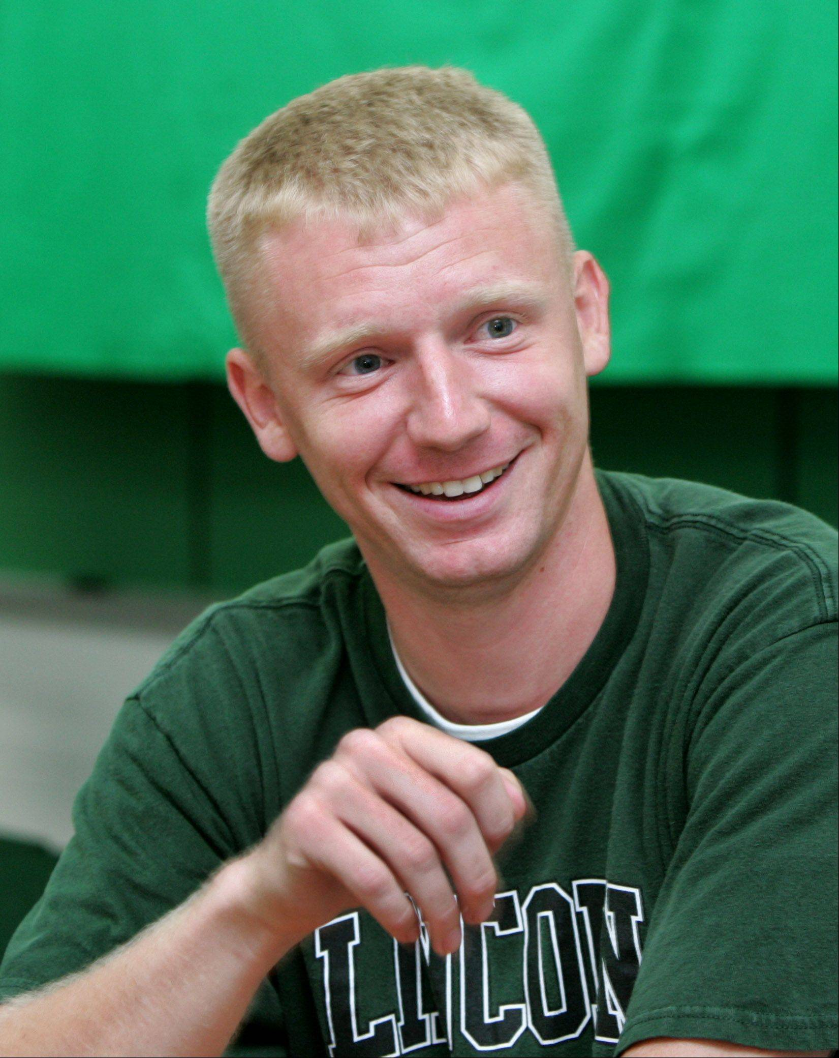 Naperville teacher Josh Stumpenhorst was named this week as the Illinois Education Association's Teacher of the Year.