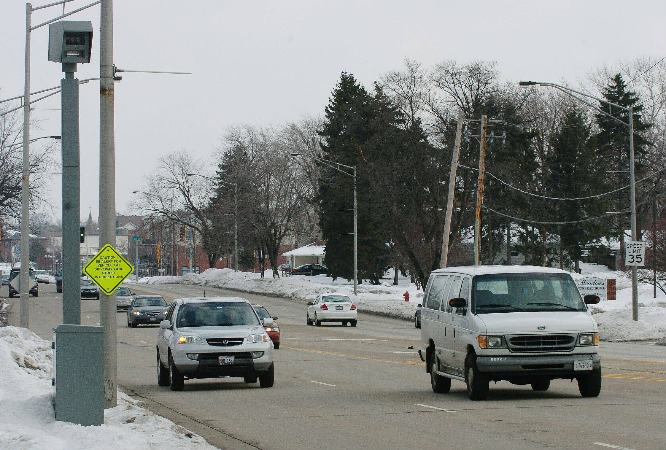 Red-light cameras are prevalent throughout the suburbs. Will speed cameras be next?
