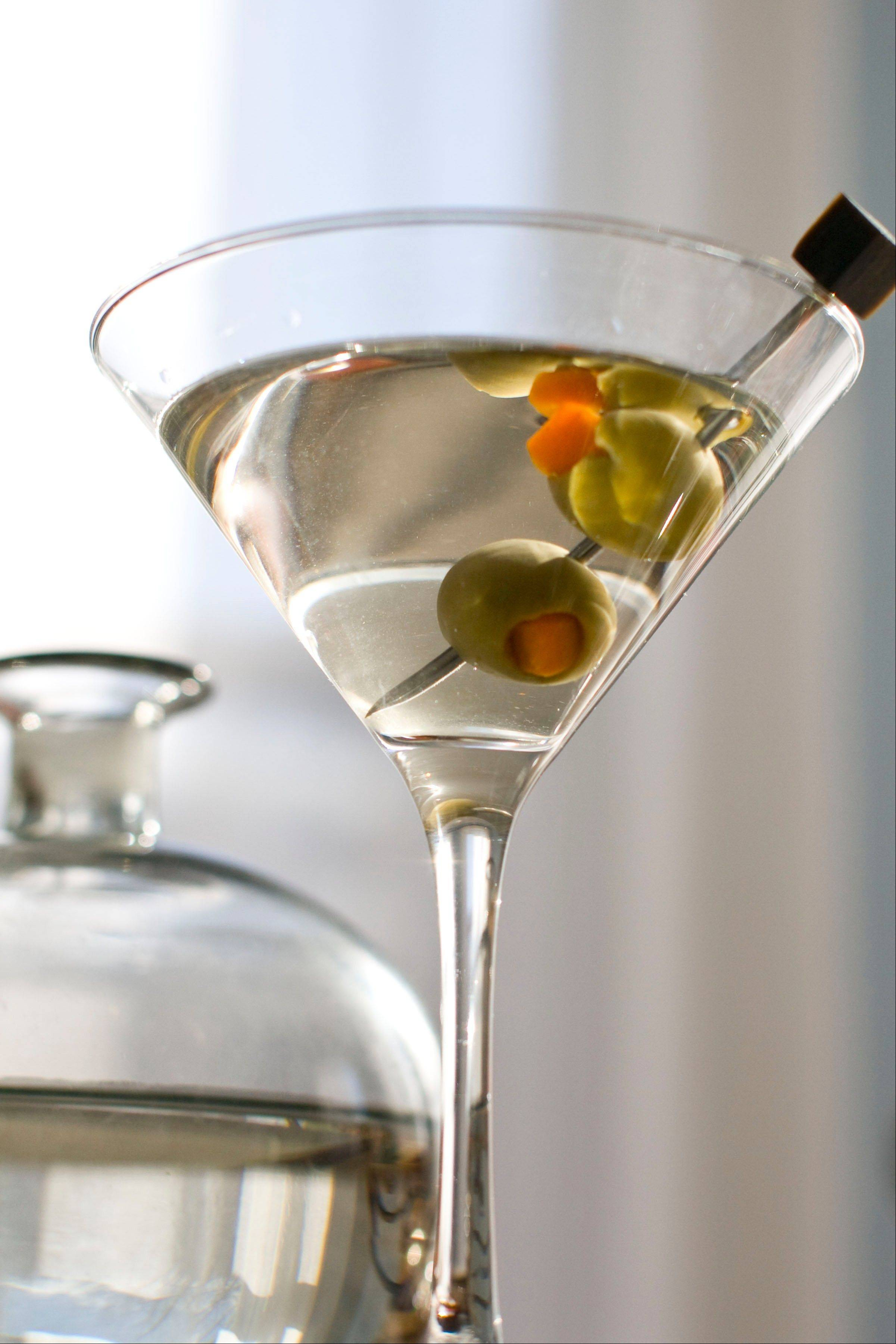 Don Draper would no doubt approve of this classic martini made with gin and vermouth.