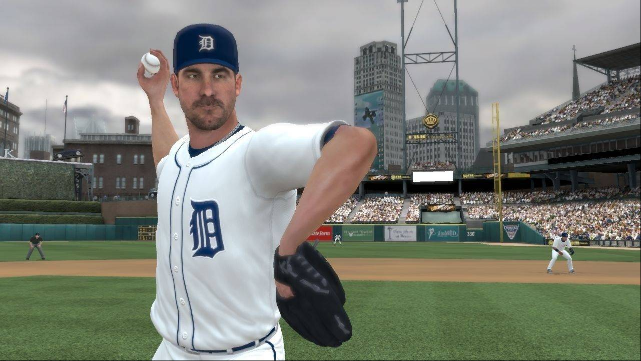 "Detroit Tigers ace Justin Verlander pitches in ""Major League Baseball 2K12."""
