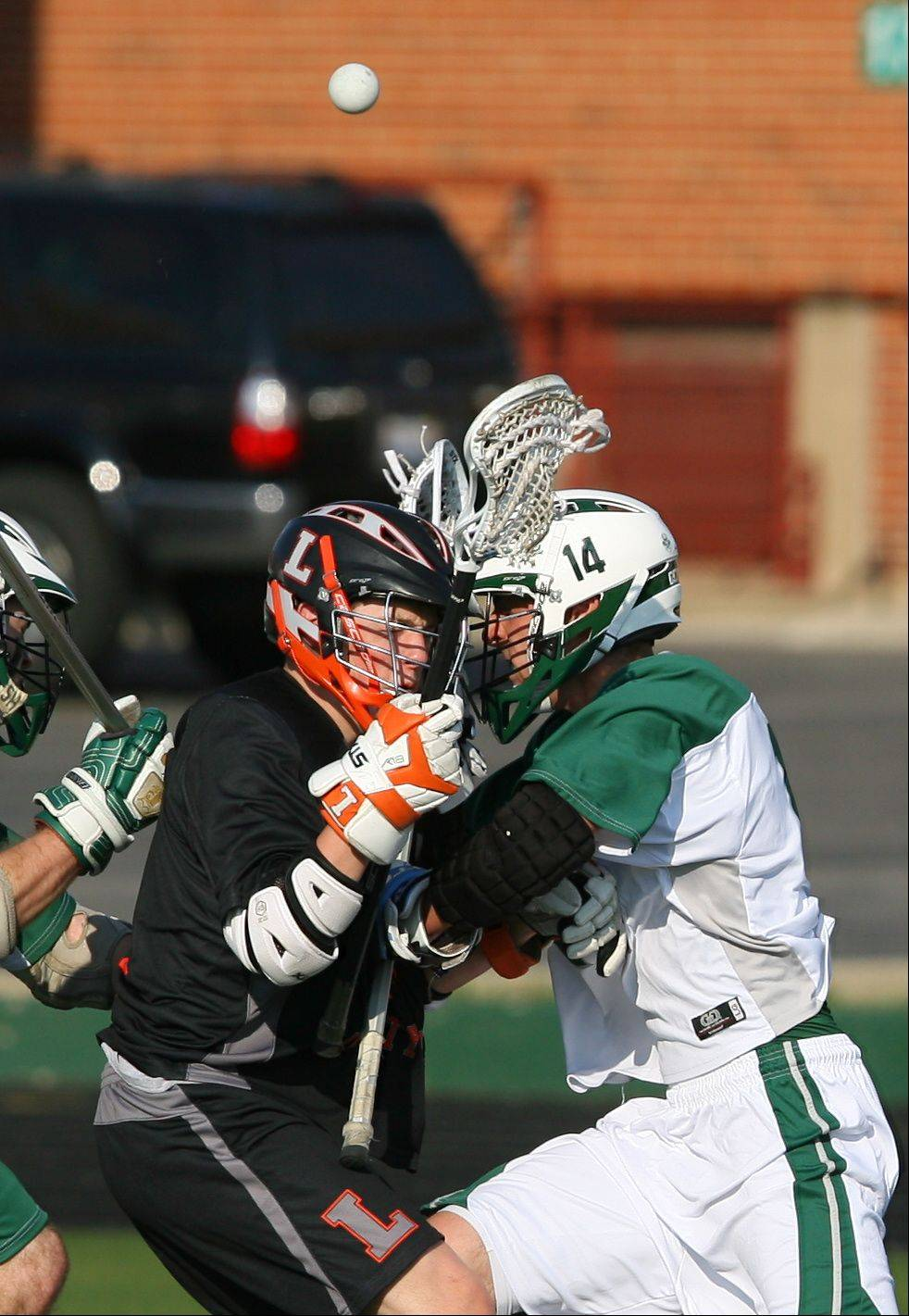 Images from the Libertyville vs. Grayslake Central boys lacrosse game Tuesday, March 20.