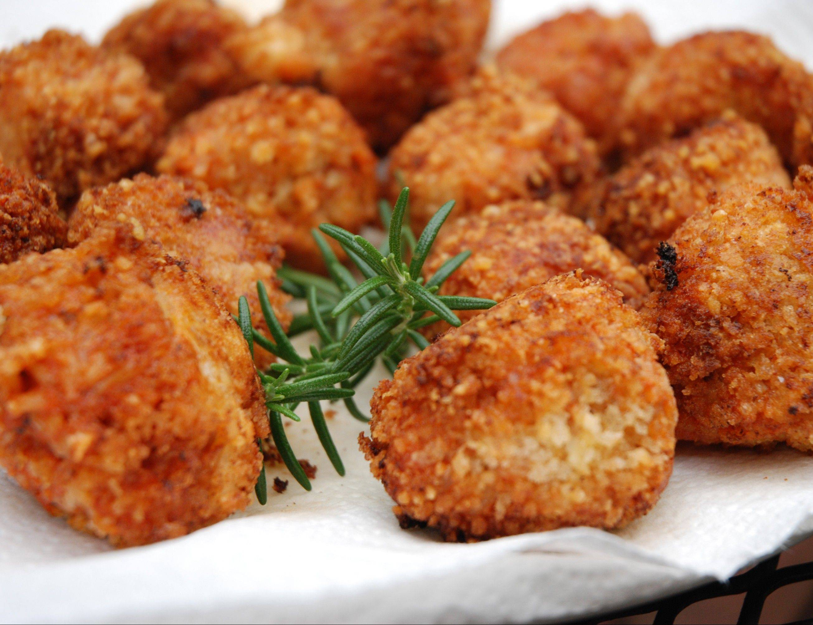 Leftover risotto rolls into tempting arancini