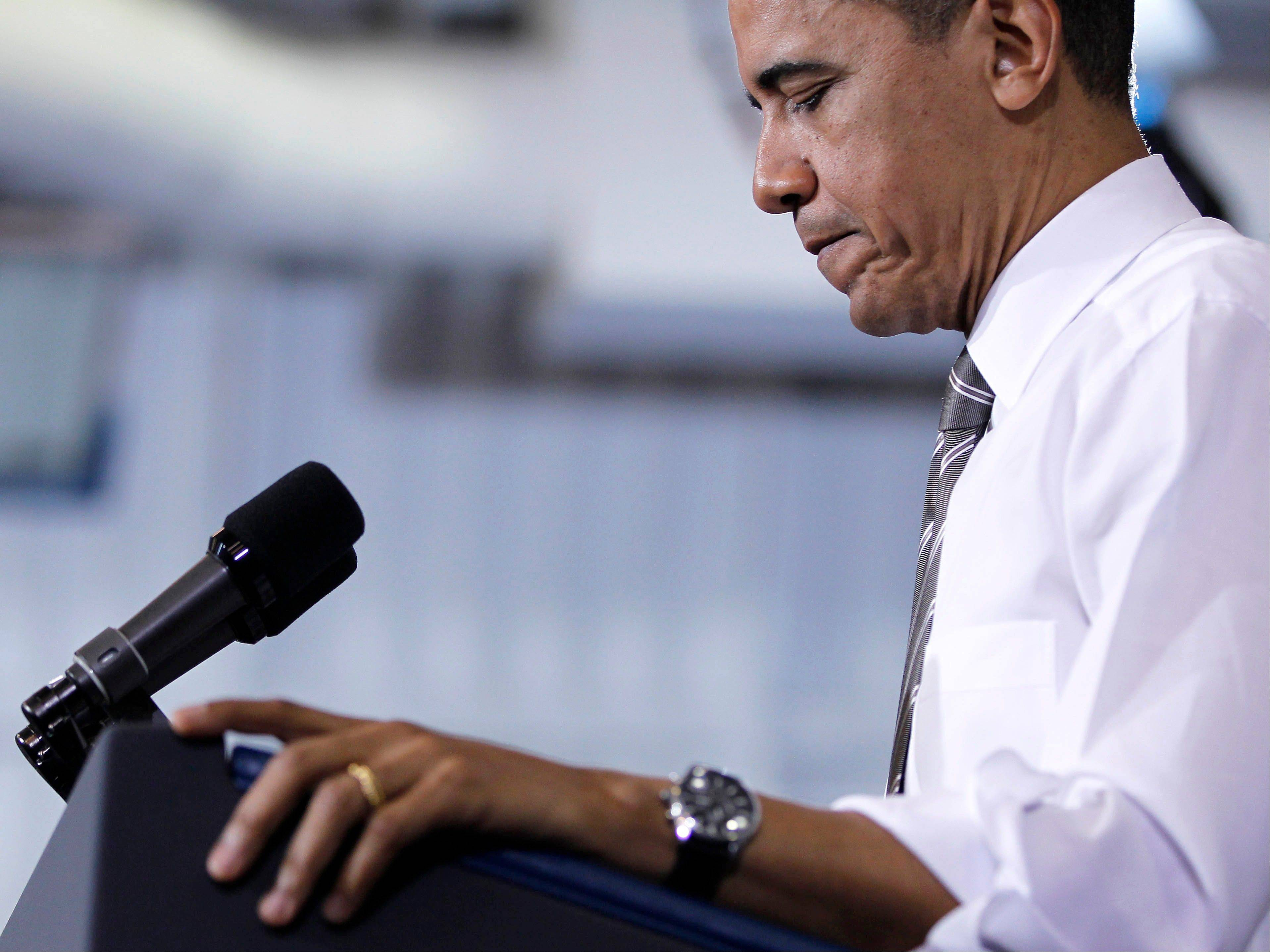President Barack Obama delivers remarks on energy, Thursday, March, 15, 2012, in Largo, Md.