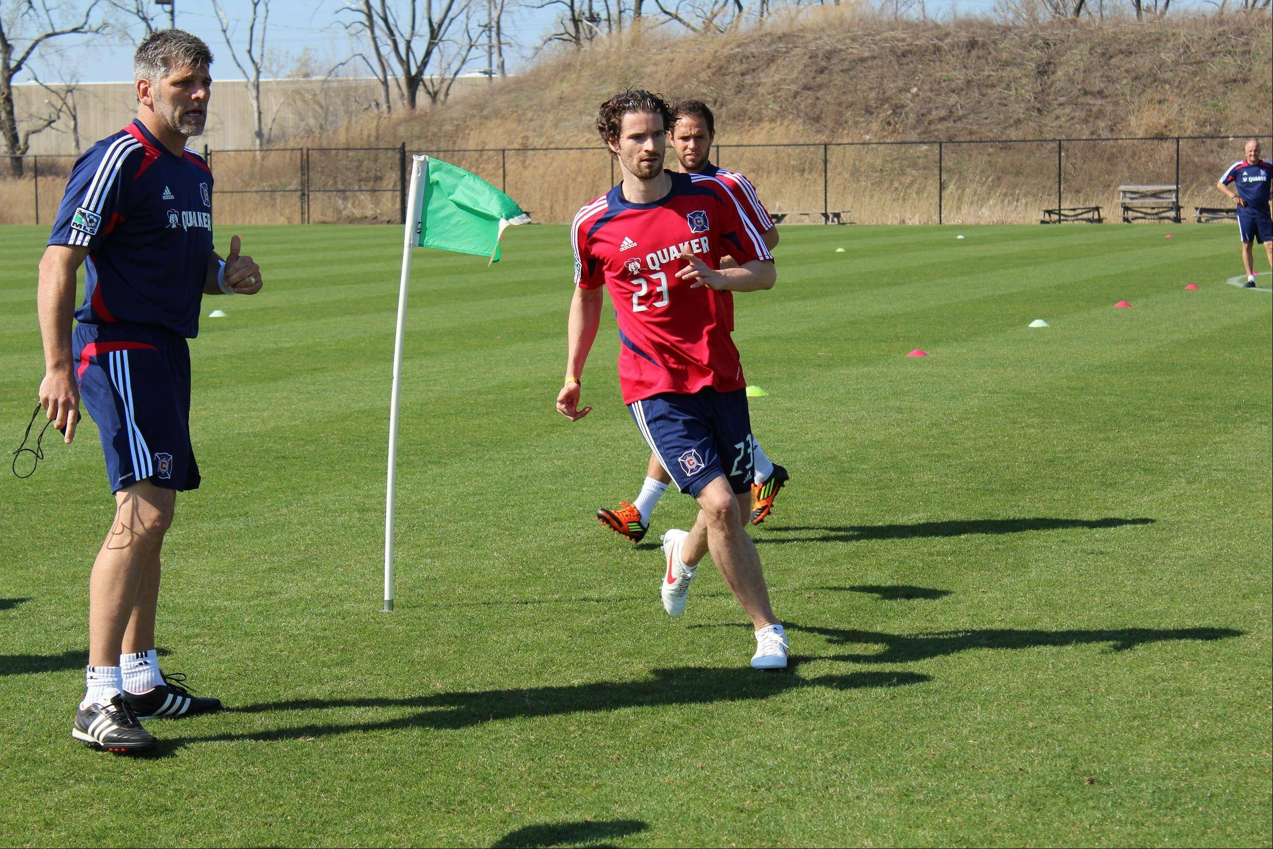 Arne Friedrich (23) says it may take two or three weeks to get in playing shape for Chicago Fire, but he already likes his teammates and his new hometown.