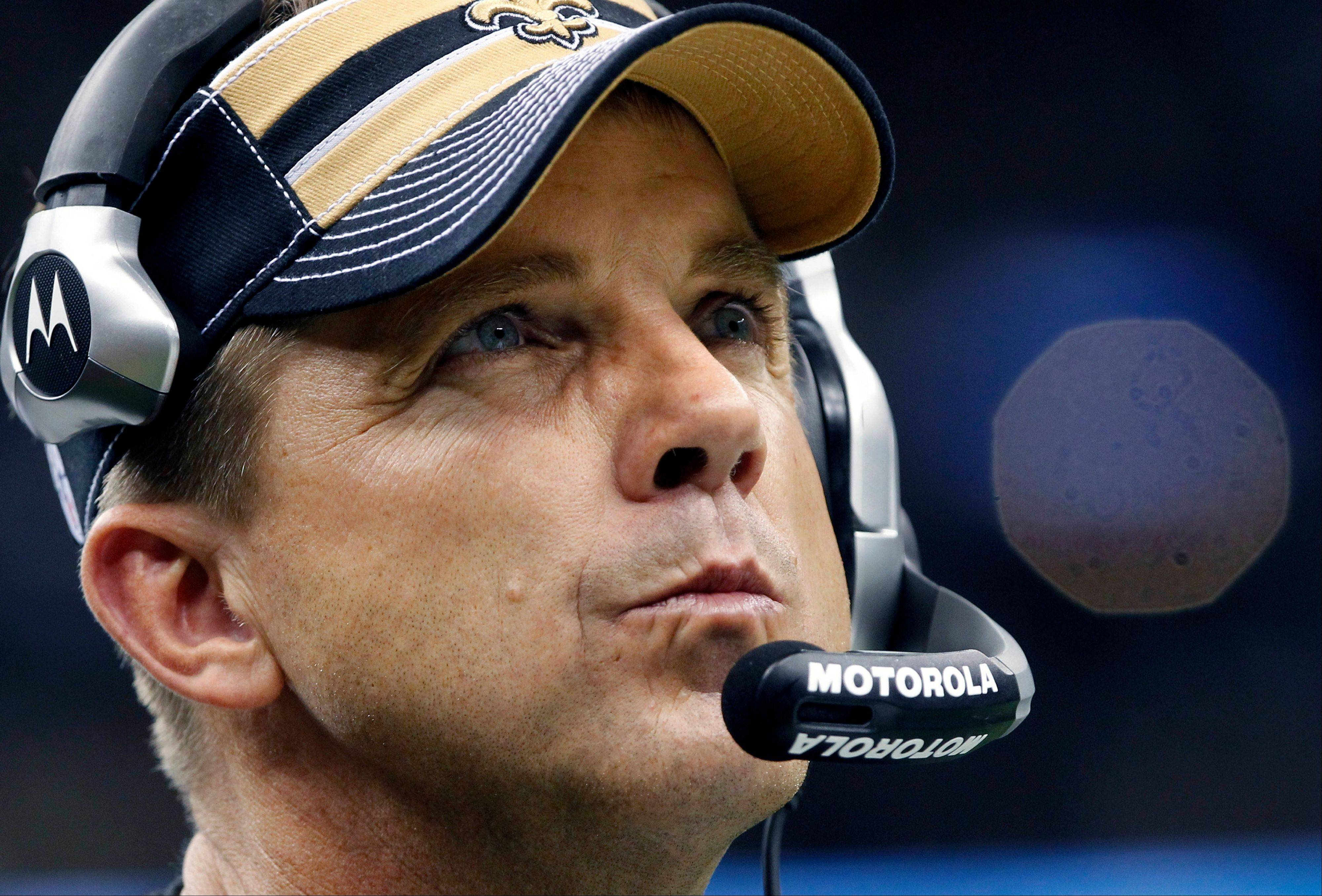 Under a ruling handed down Wednesday by NFL officials, New Orleans Saints head coach Sean Payton will be suspended for the 2012 season. Former Saints defensive coordinator Gregg Williams also is banned from the league indefinitely because of the team's bounty program that targeted opposing players.