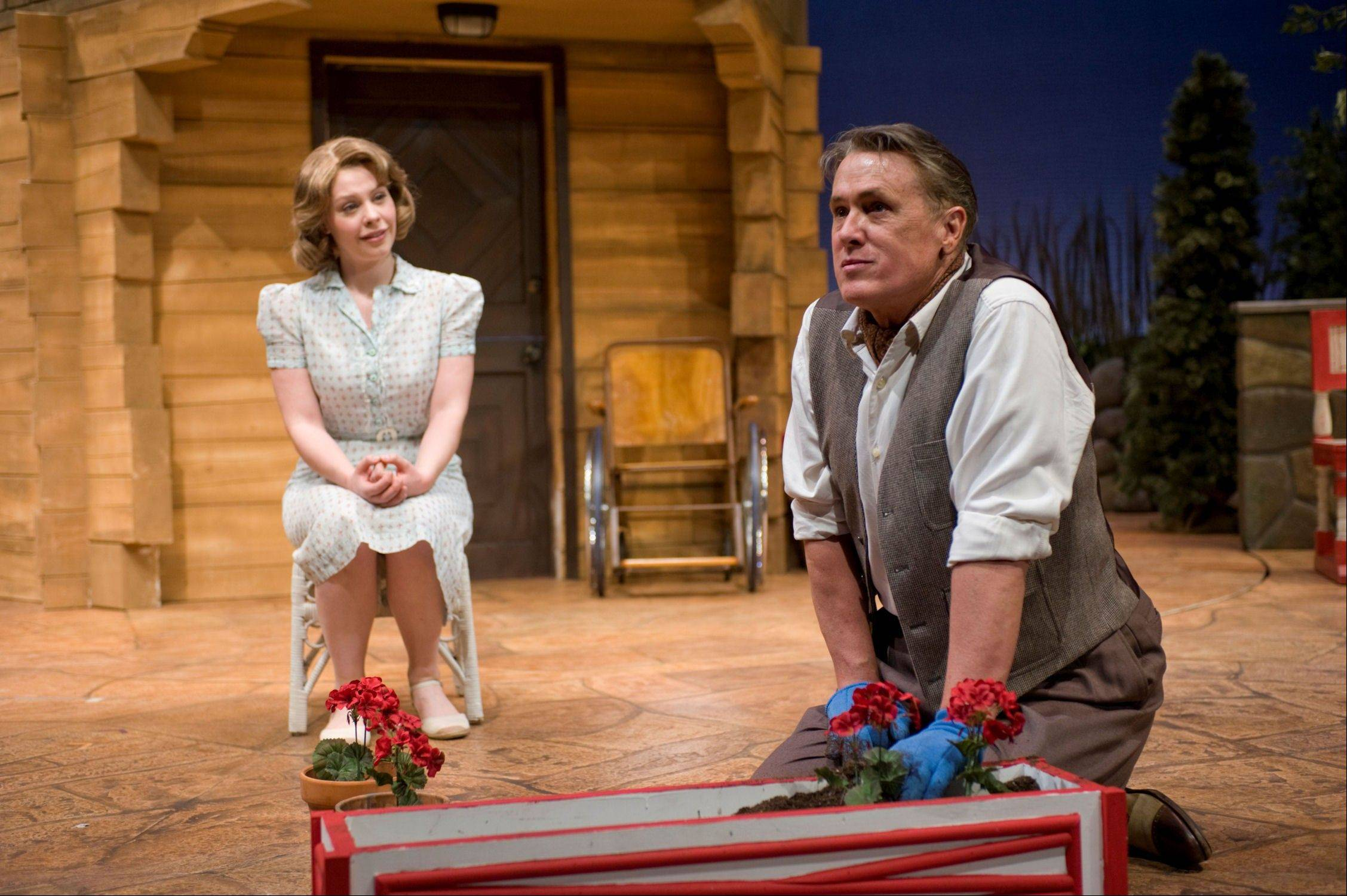 "The onstage relationship between Uta Hagen (Sara Griffin) and Alfred Lunt (V. Craig Heidenreich) begins to bleed into their real lives in Jeffrey Hatcher's ""Ten Chimneys,"" running through April 15 at Northlight Theatre."