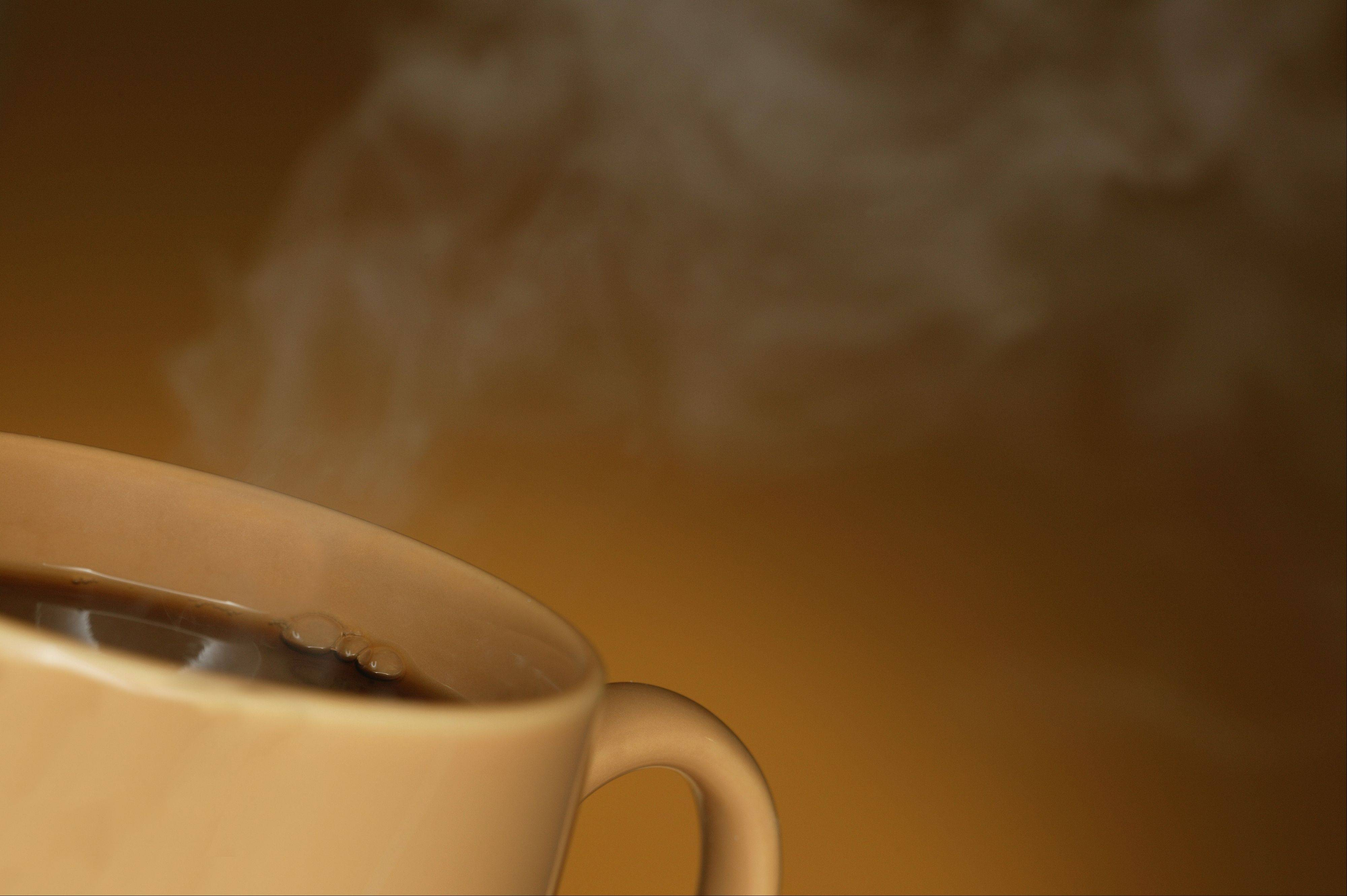 Local doctors suggest that kids not drink caffeine-containing drinks, such as coffee or energy drinks.