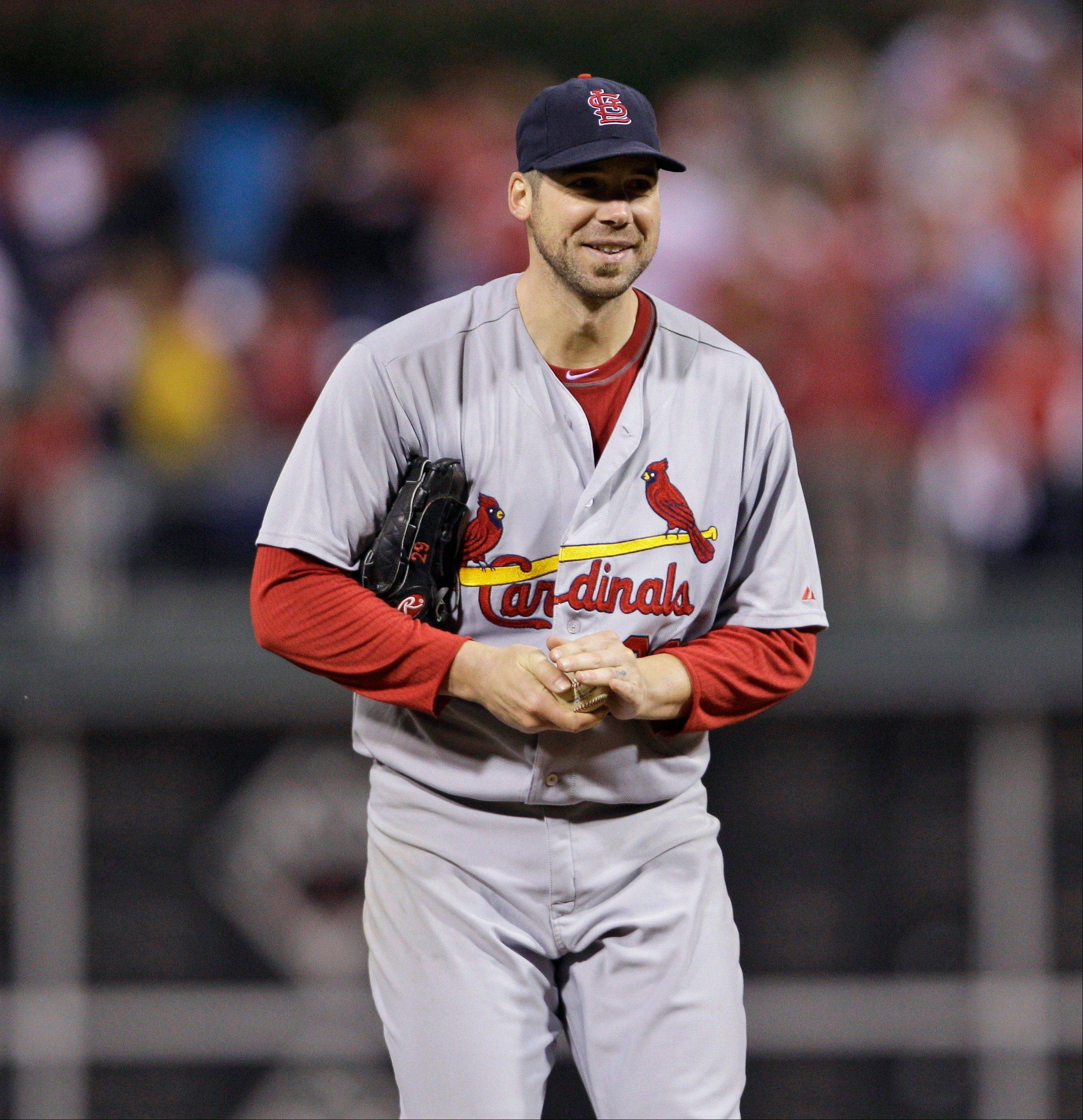 The Cardinals announced Friday that ace Chris Carpenter has nerve irritation that has caused weakness in his pitching shoulder.