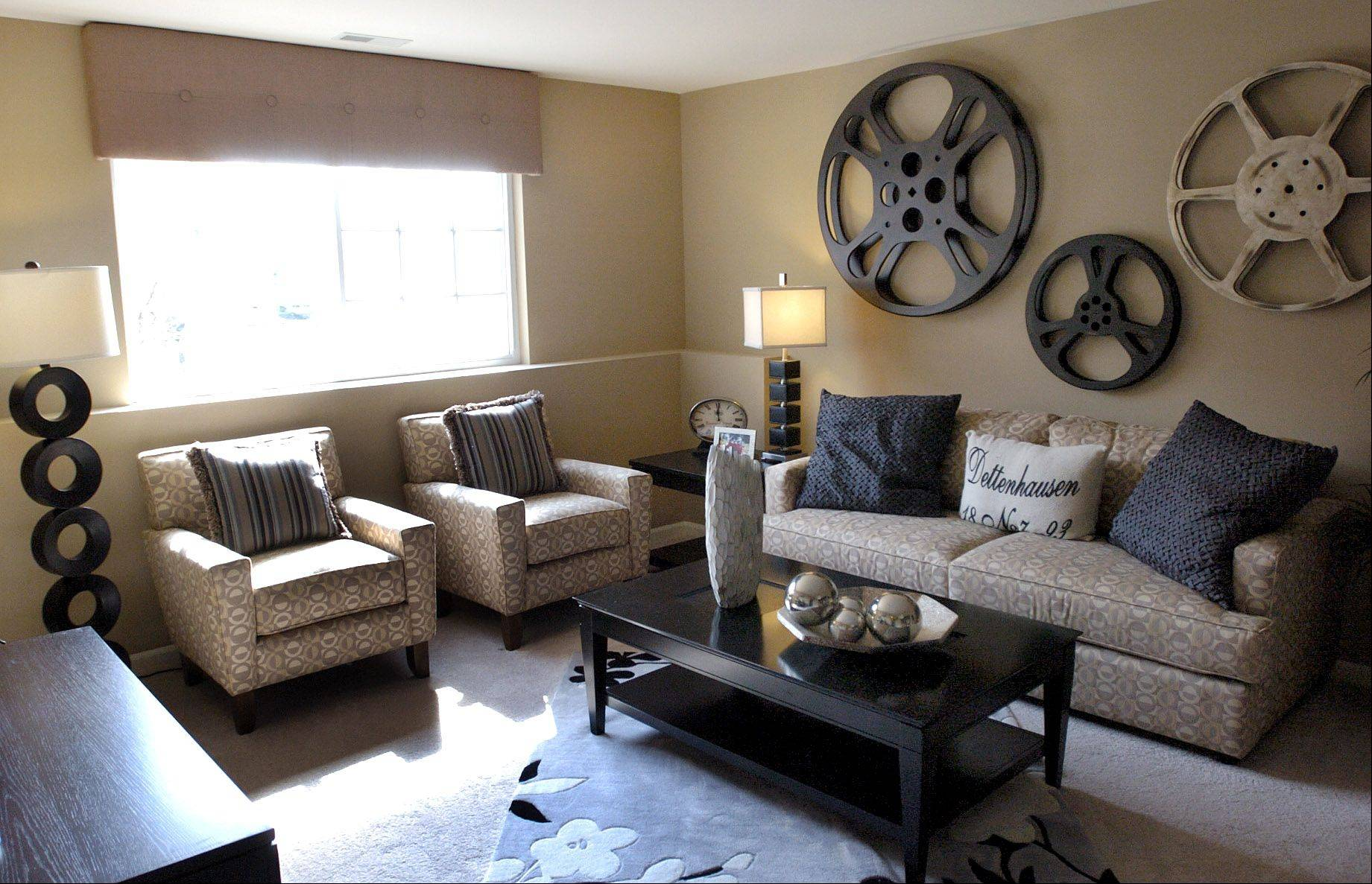 Lennar Corp. has extended its St. Patrick's Day sale through the end of the month at Trafalgar Woods in Morton Grove. This is the downstairs family room in the Camden model at Trafalgar Woods.
