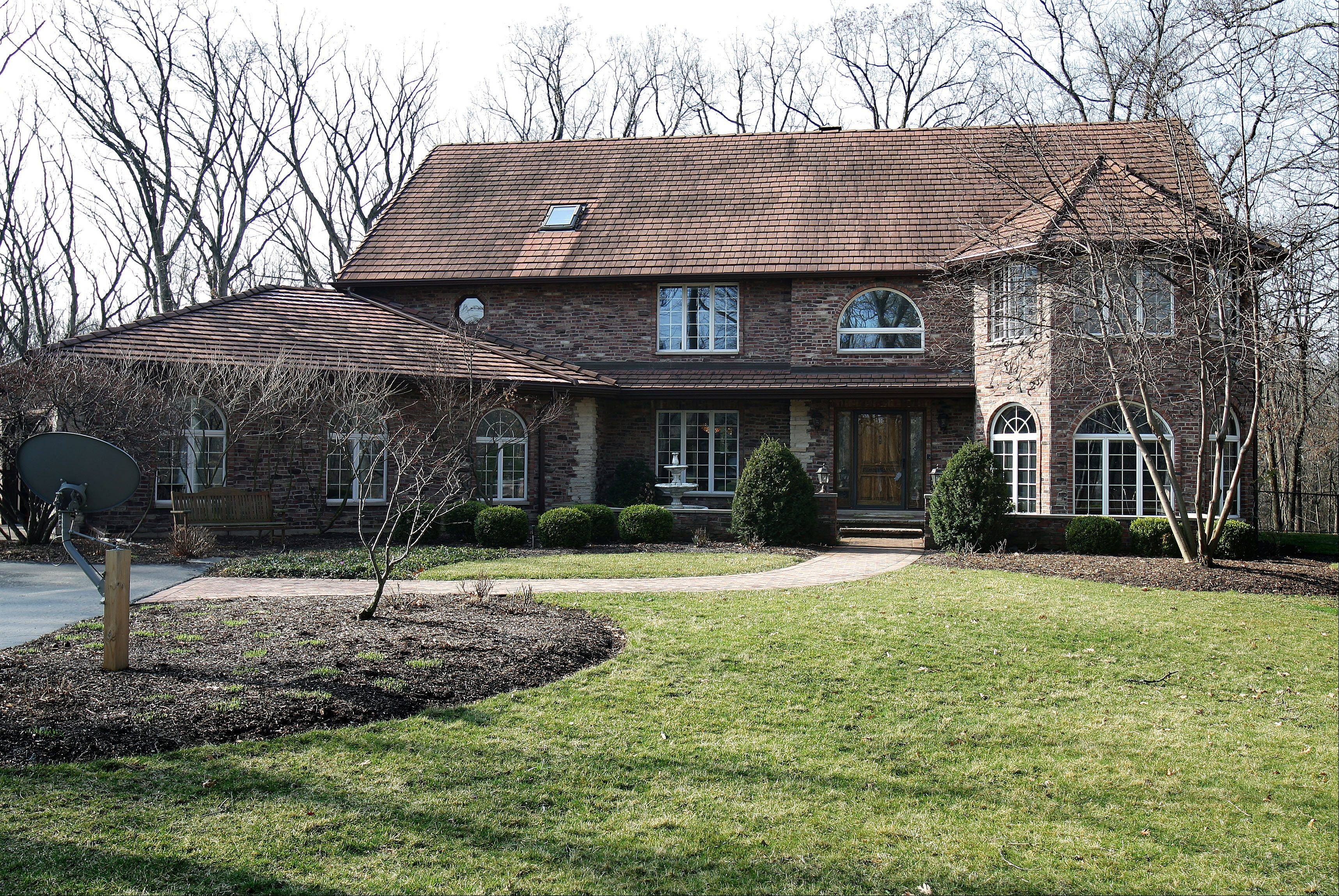 The Sorrentino home sits on 4 wooded acres.