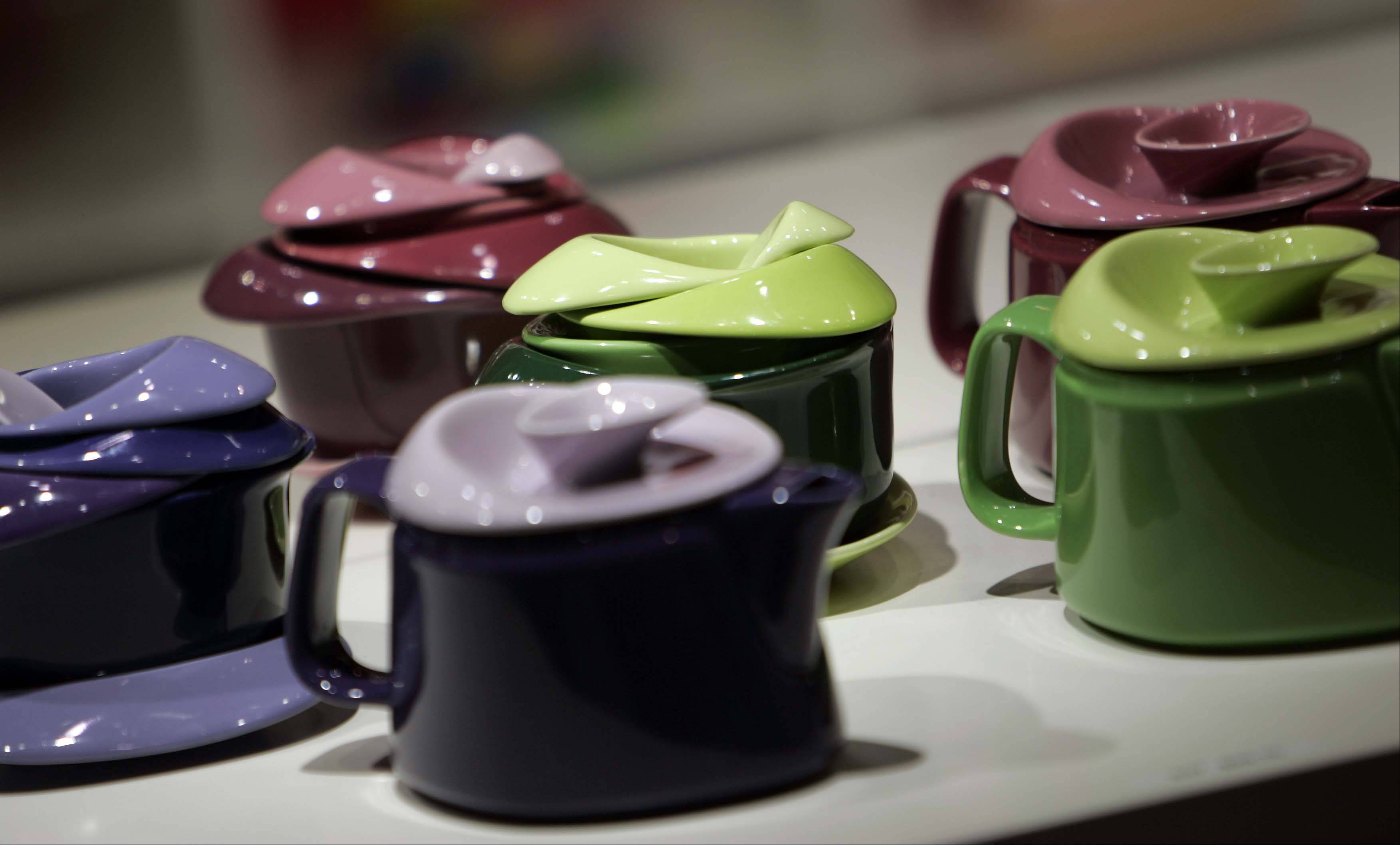 The Philadelphia Museum of Art presents teapots with color -- a big story this year at the International Home + Housewares Show -- as well as interesting form.