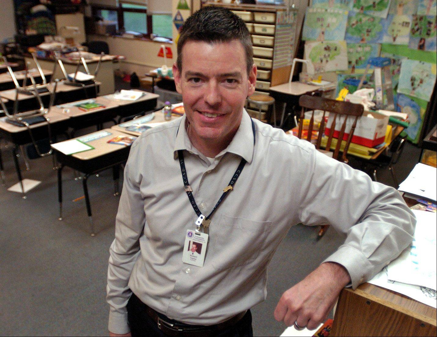 Golden Apple finalist second-grade teacher Rob Taylor works at Central Road School in Rolling Meadows.