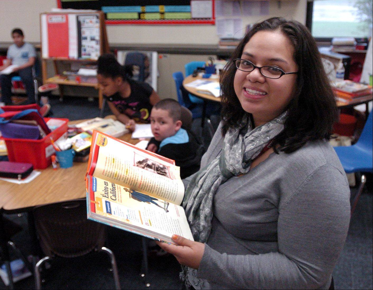 Golden Apple finalist third-grade dual-language teacher Maria Barba works at MacArthur School in Hoffman Estates.