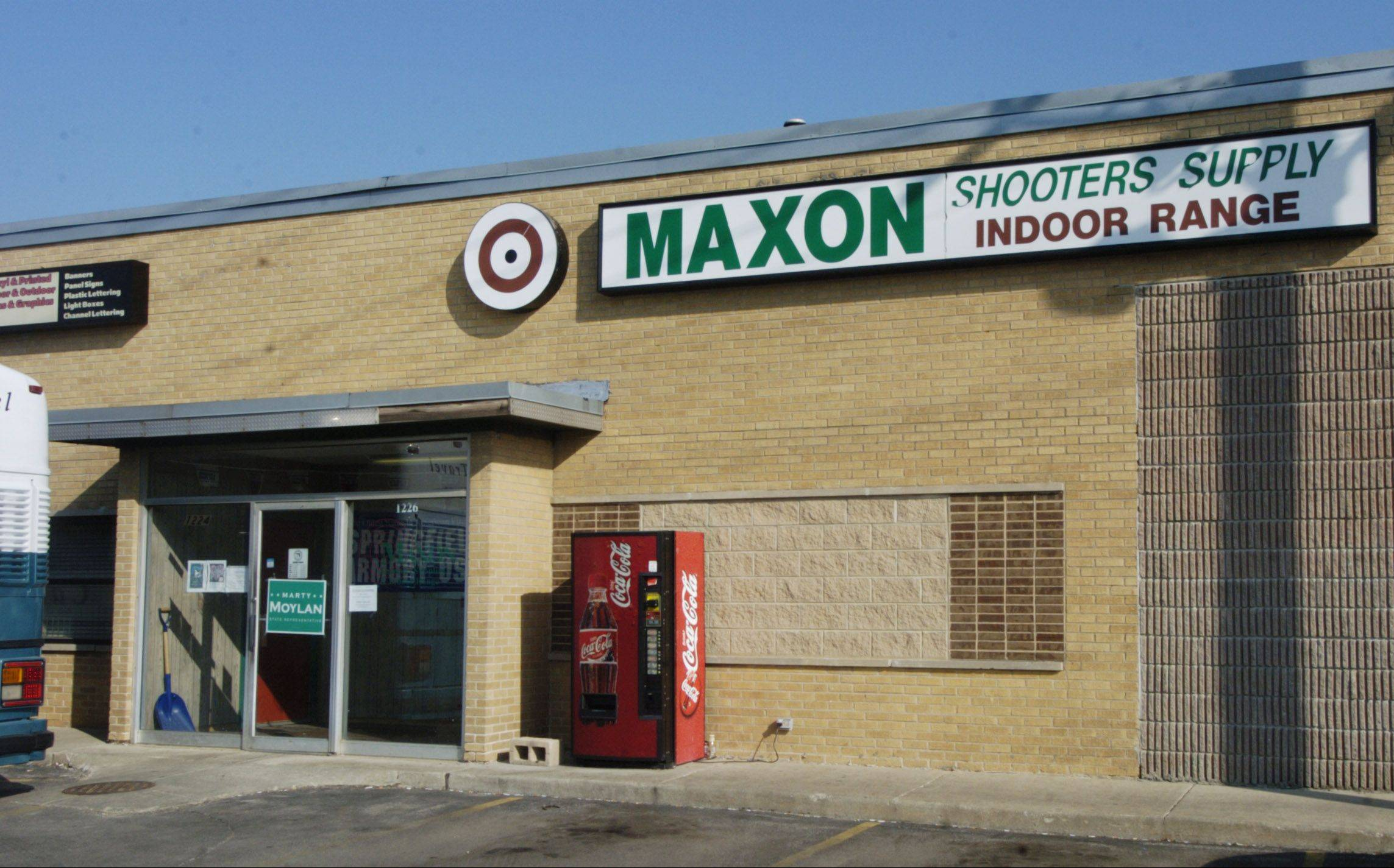 About 200 firearms were stolen earlier this year in a burglary of Maxon Shooters Supply and Indoor Range in Des Plaines. The break-in has city officials concerned about security measures at the business.