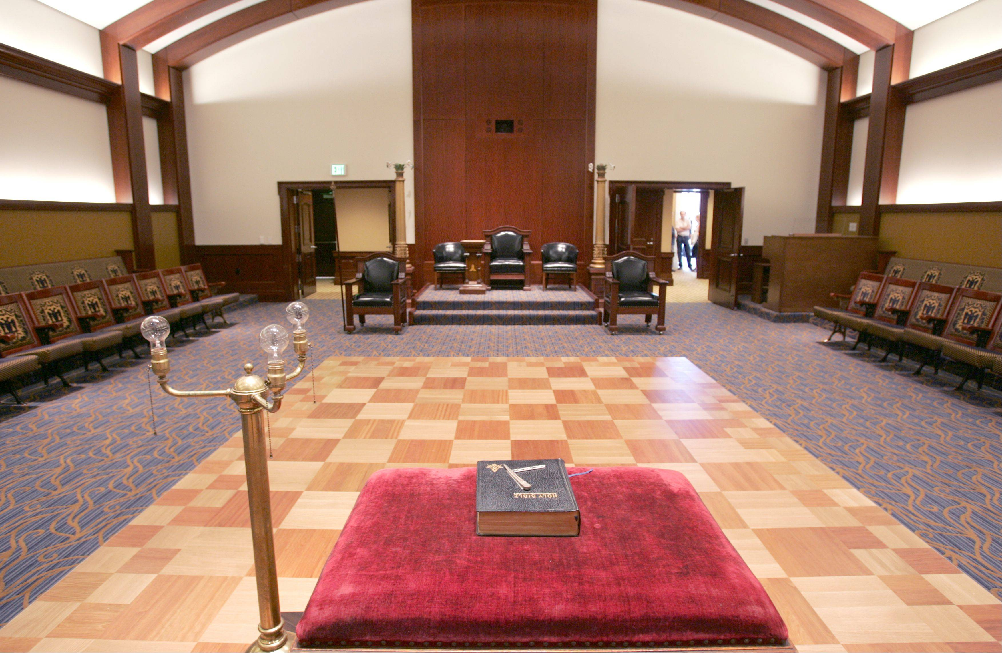 Interior shot of the Scottish Rite in Bloomingdale.