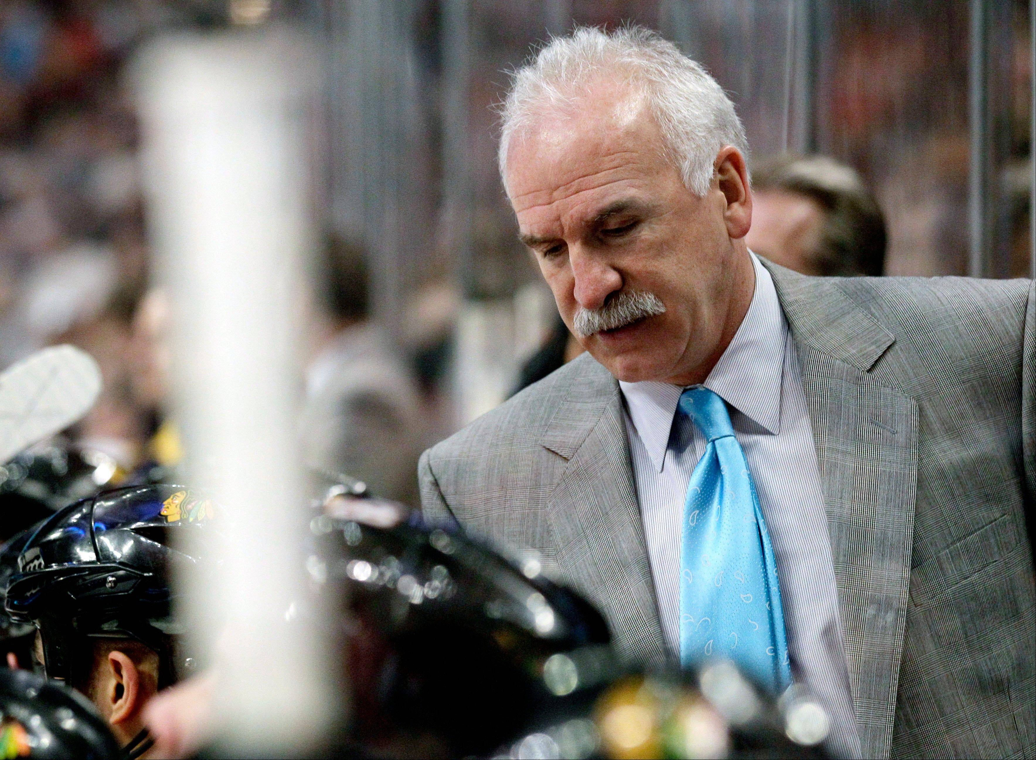 Blackhawks head coach Joel Quenneville wasn't happy with his team's effort Sunday against the Nashville Predators. Quenneville called for a unexpected practice Monday, but later said it's important to put the loss behind them.