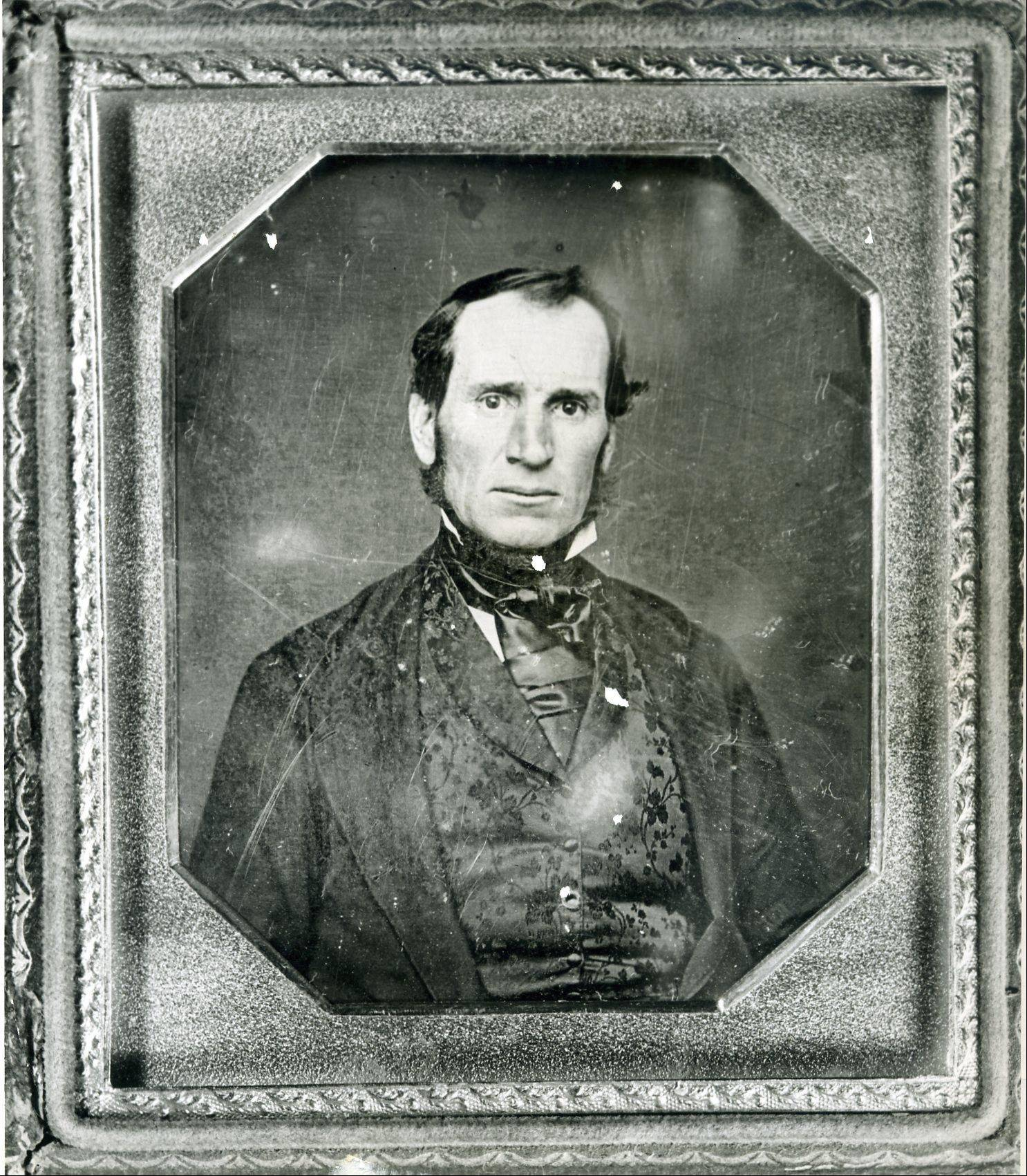 Aurora founder Samuel McCarty; no pictures exist of his brother, Joseph, who died before the advent of photography.