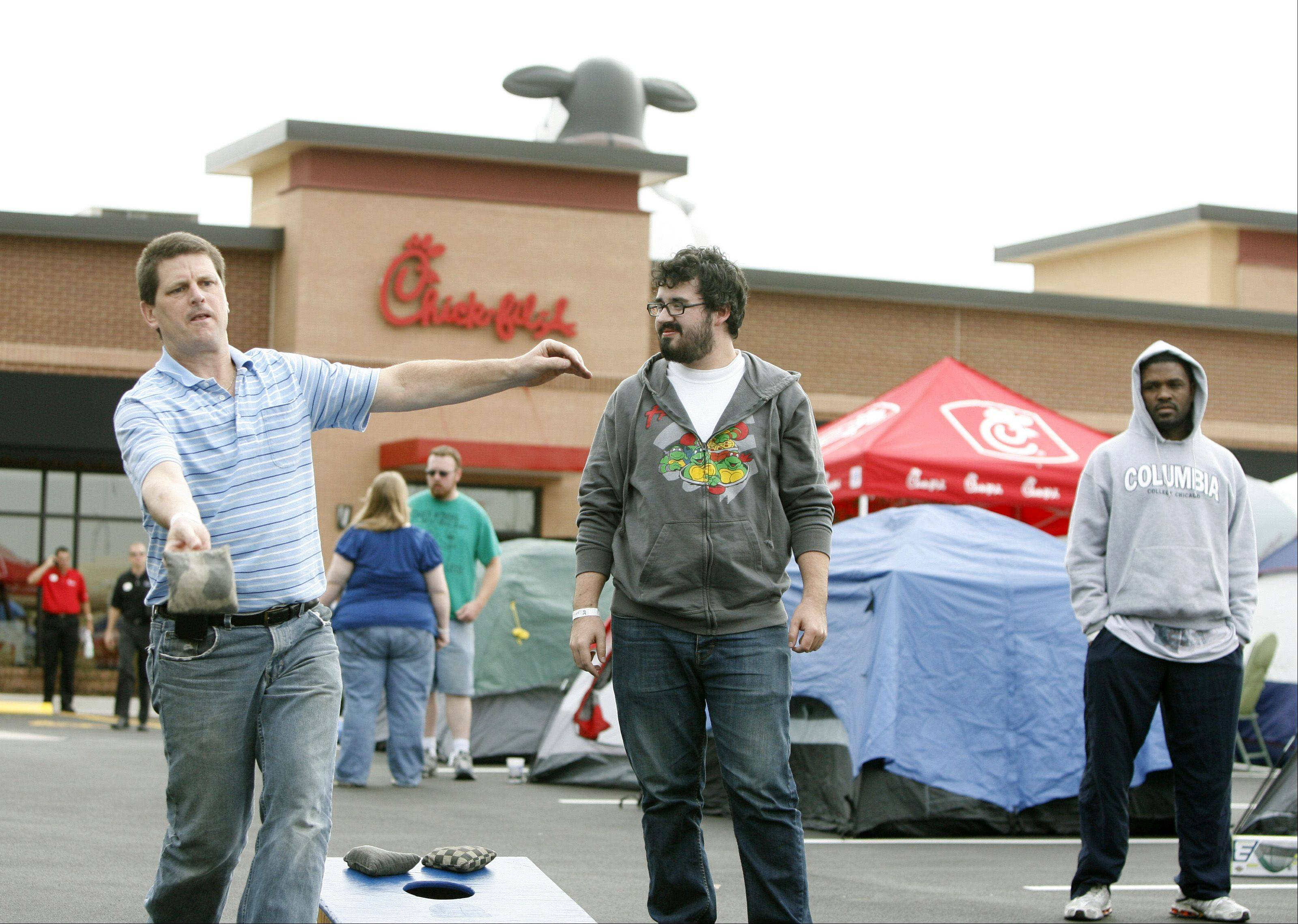 Crowds gathered outside the Chick-fil-A in September 2010 when the Aurora site became the first of the chain's restaurants to open in the Chicago area. The sixth area Chick-fil-A will open at 6:30 a.m. Thursday in Lombard.