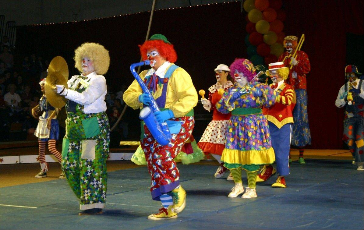 A clown band performs as part of The Triton Troupers Circus which returns to Triton College in River Grove.