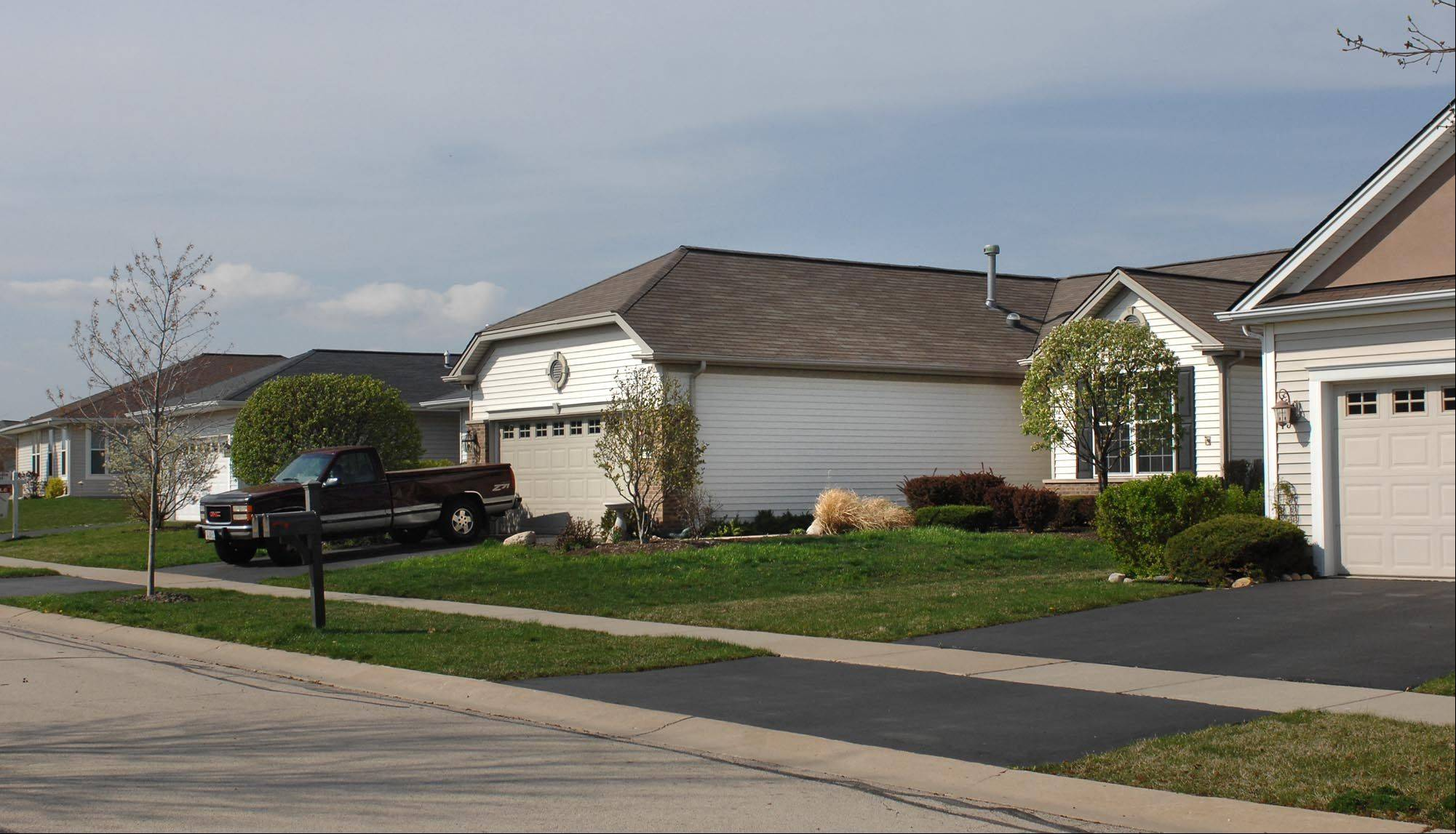 This is the home Michelle Mathieu and Robert Signorile shared in the Sun City complex in Huntley. She was beaten in the home and died six days later; he has been charged with first-degree murder.