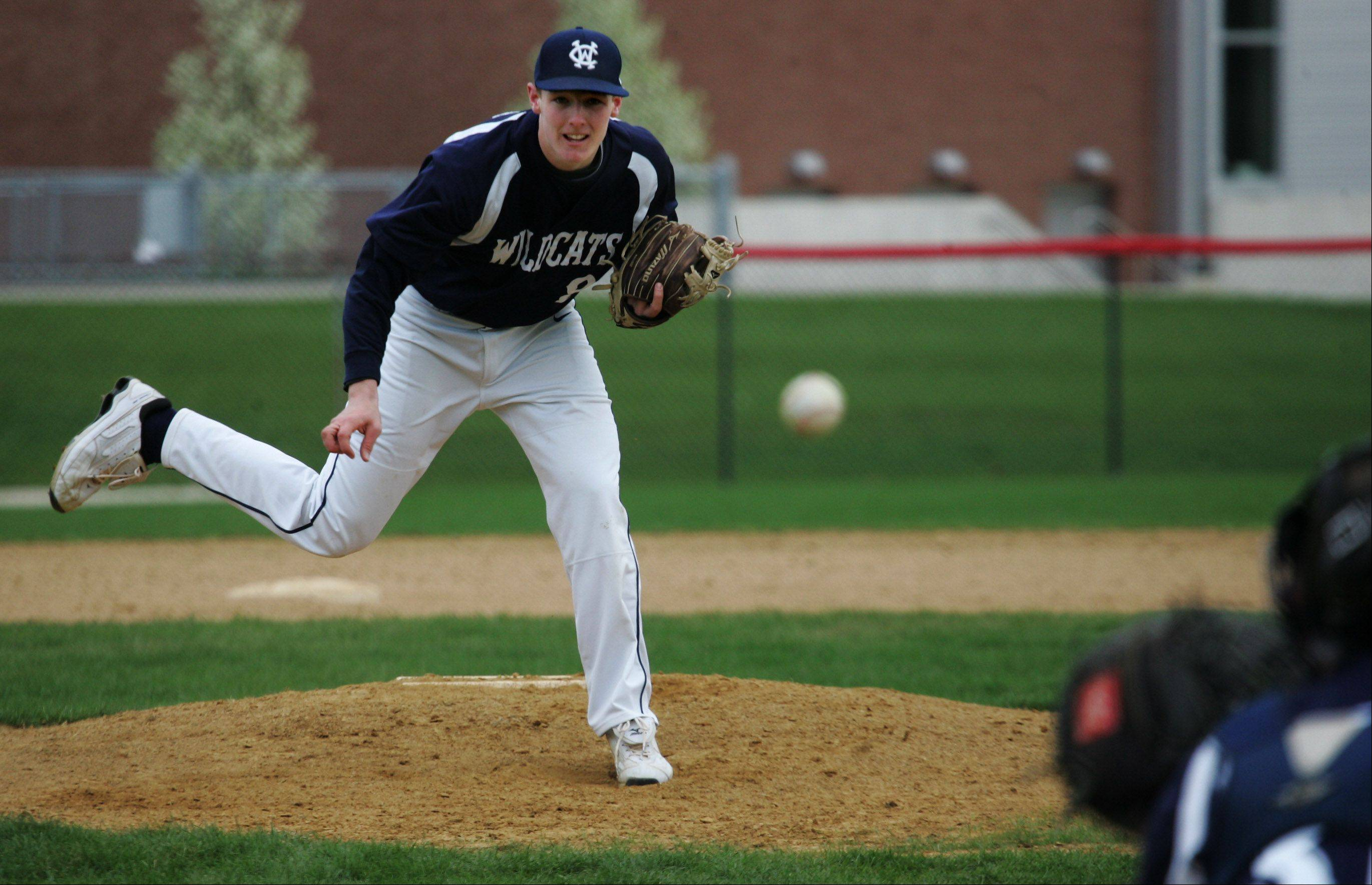 West Chicago pitcher Josh Gimre delivers against host Grant on Tuesday.