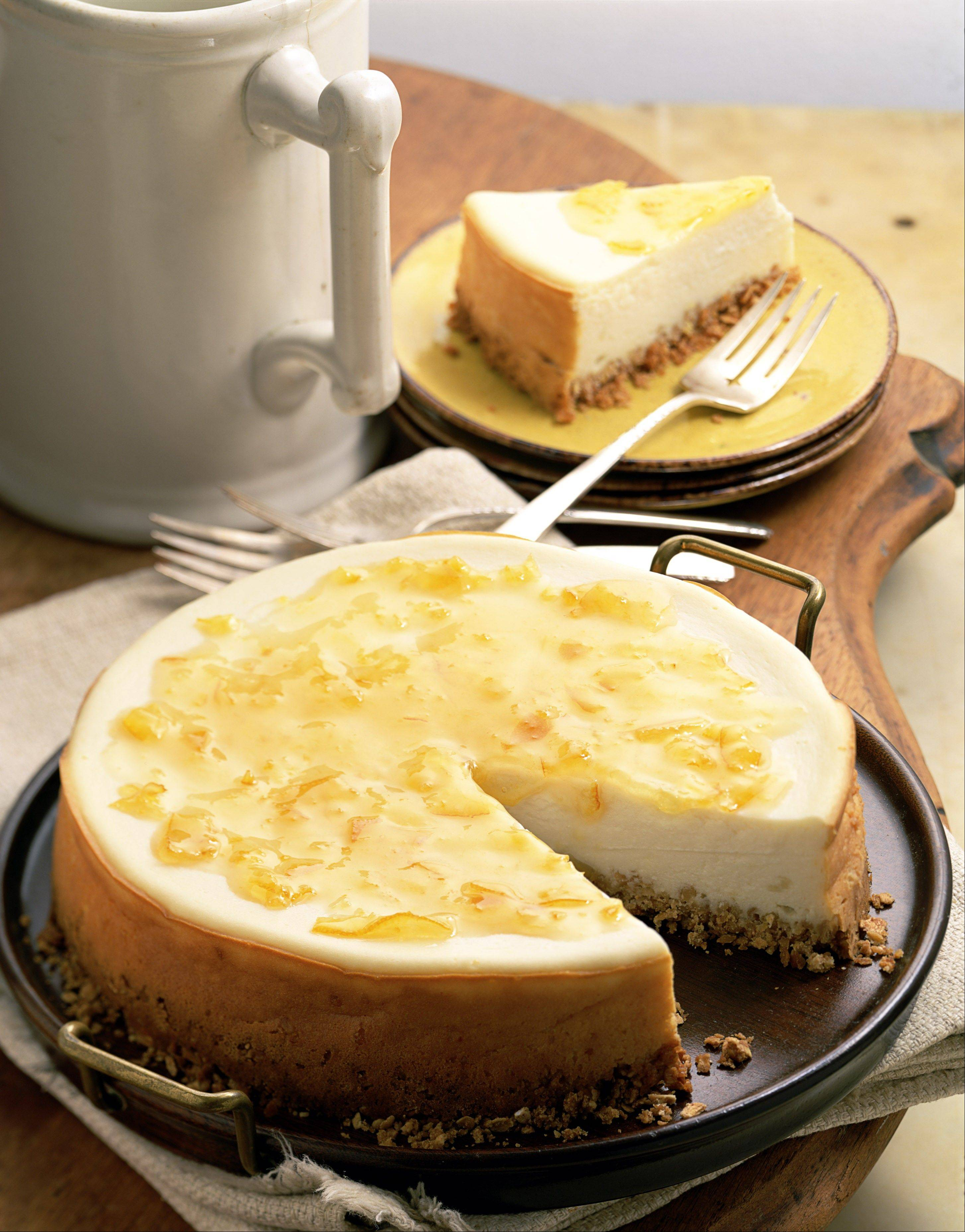 Lemon Cheesecake cooks in a pressure cooker for 15 minutes.