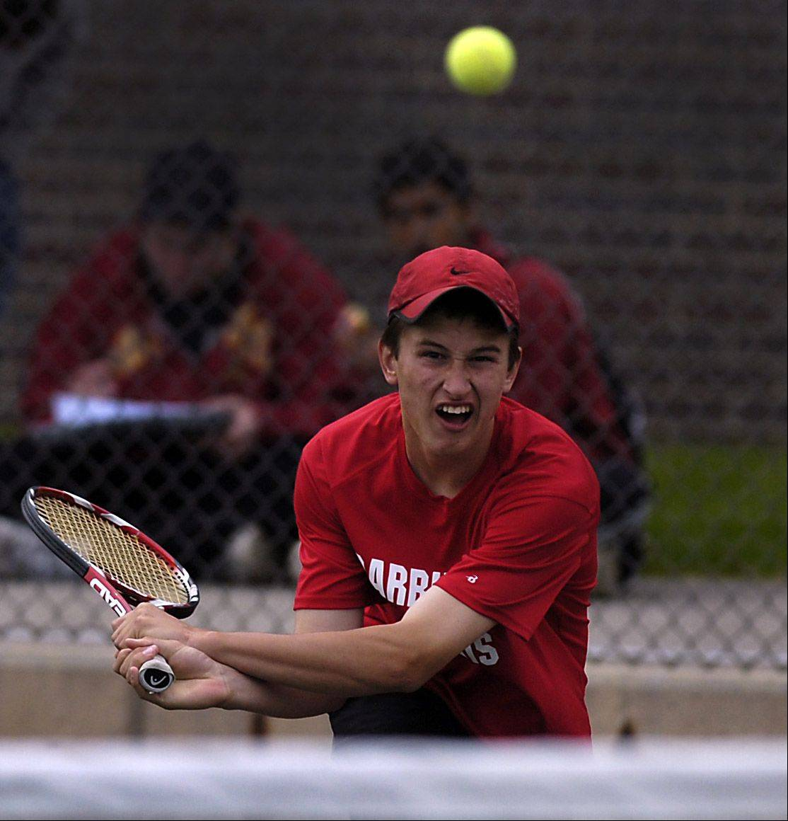 George Coll hopes to lead Barrington to another successful Mid-Suburban League boys tennis season.