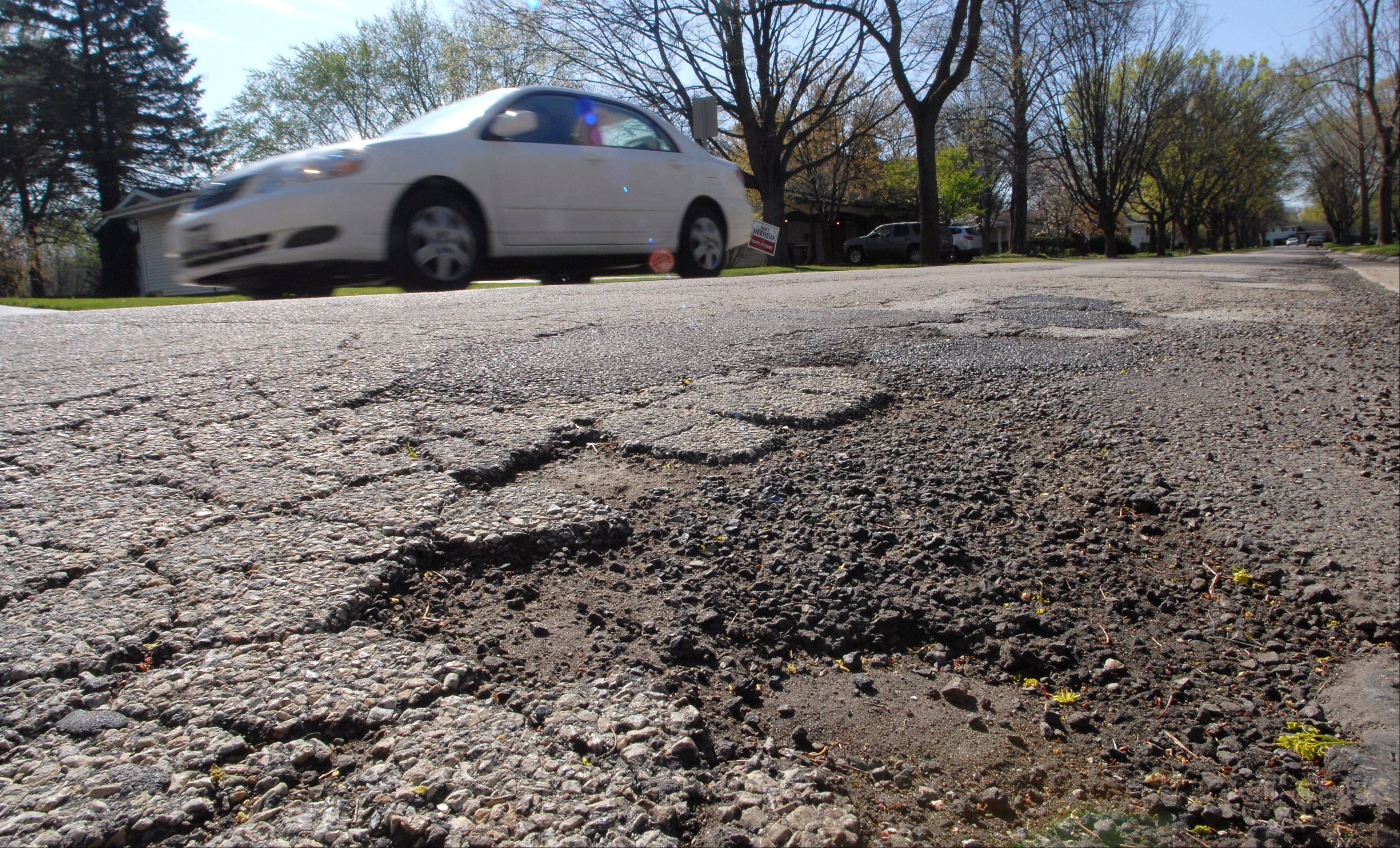 Kenwood Avenue in Libertyville is on a tentative list of streets to be rebuilt in 2015.