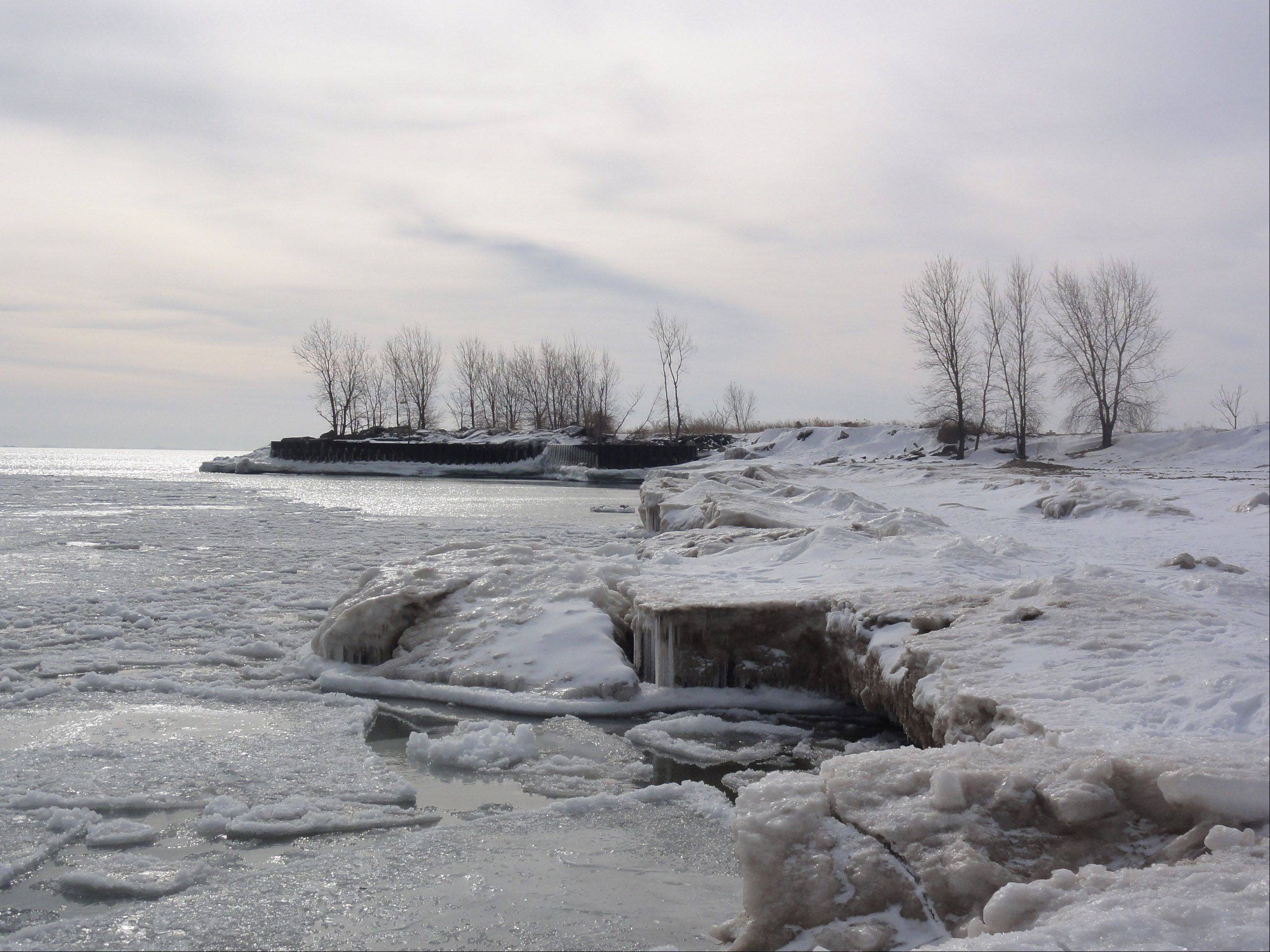 I took this photo on winter trip into Chicago with the family. This was near Northerly Island. I had never been to beach in winter and I was amazed by the beauty of it.