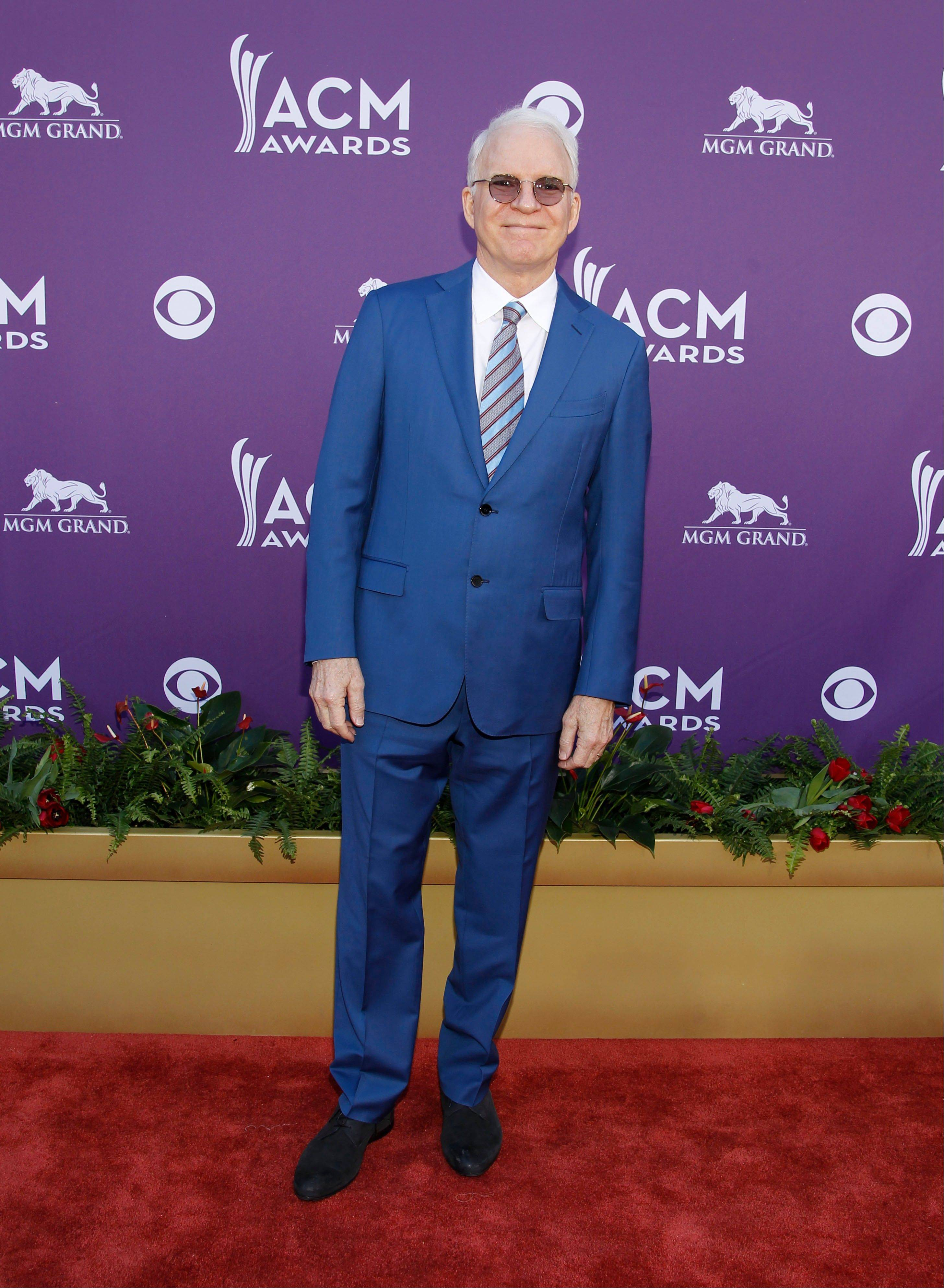 Actor, comedian and banjo player Steve Martin arrives at the 47th Annual Academy of Country Music Awards on Sunday in Las Vegas.
