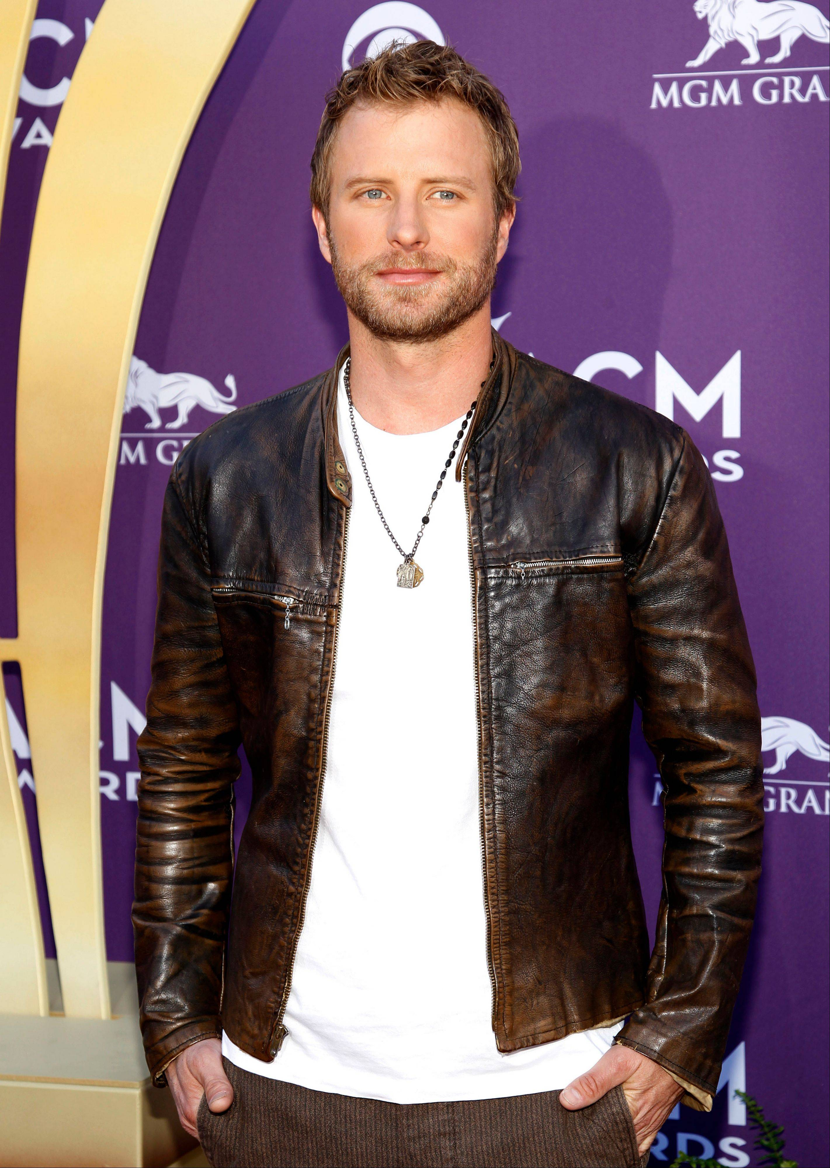 Dierks Bentley arrives at the 47th Annual Academy of Country Music Awards on Sunday in Las Vegas.