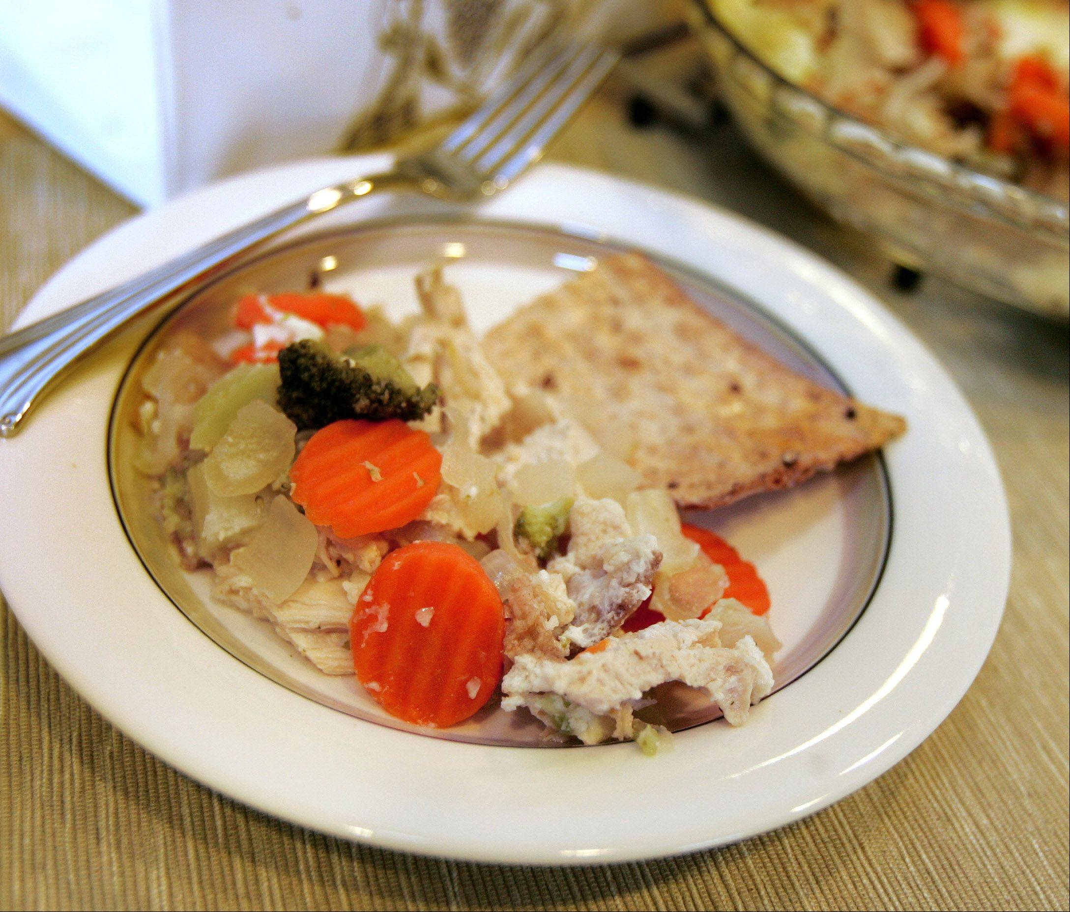 Use up holiday leftovers with this Passover Potpie.