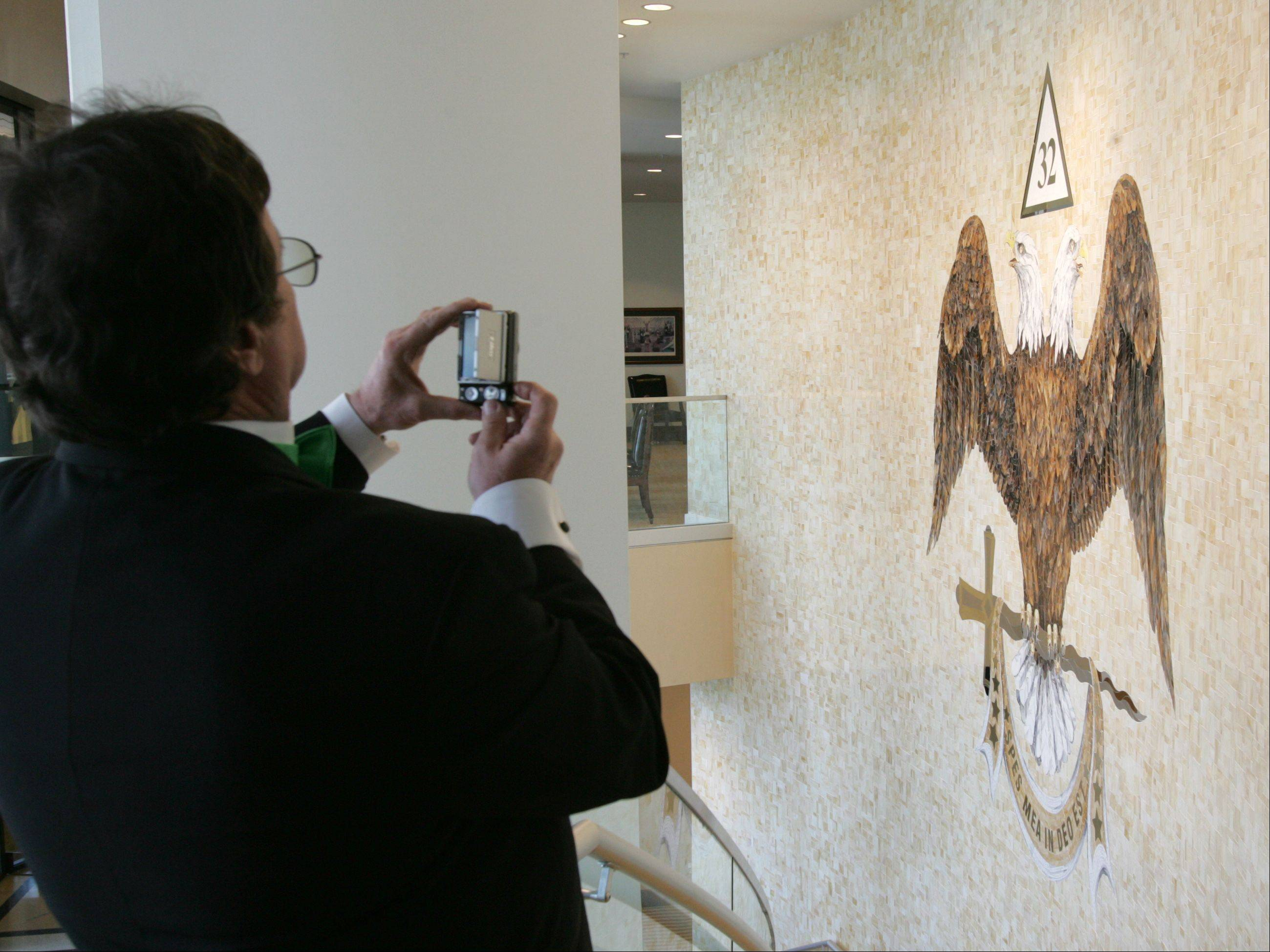 A mosaic of the Scottish Rite emblem is on prominent display in the main foyer of the Valley of Chicago's new lodge in Bloomingdale. The $20 million facility hosted a grand opening March 17.