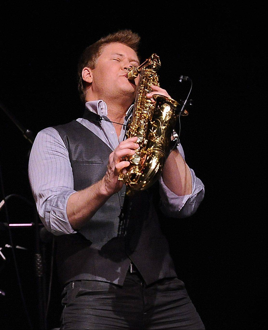 Michael Lington and his saxophone raise the roof as he plays the song Playtime from his new album Pure for the packed house at Schaumburg's Prairie Center on Saturday.