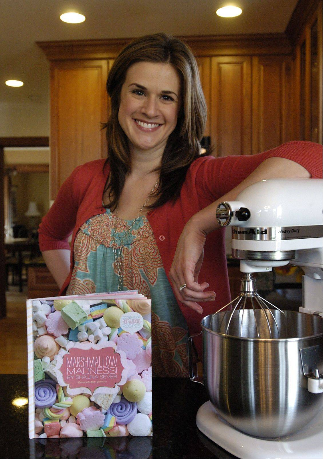 "Shauna Sever and her new cookbook ""Marshmallow Madness."""