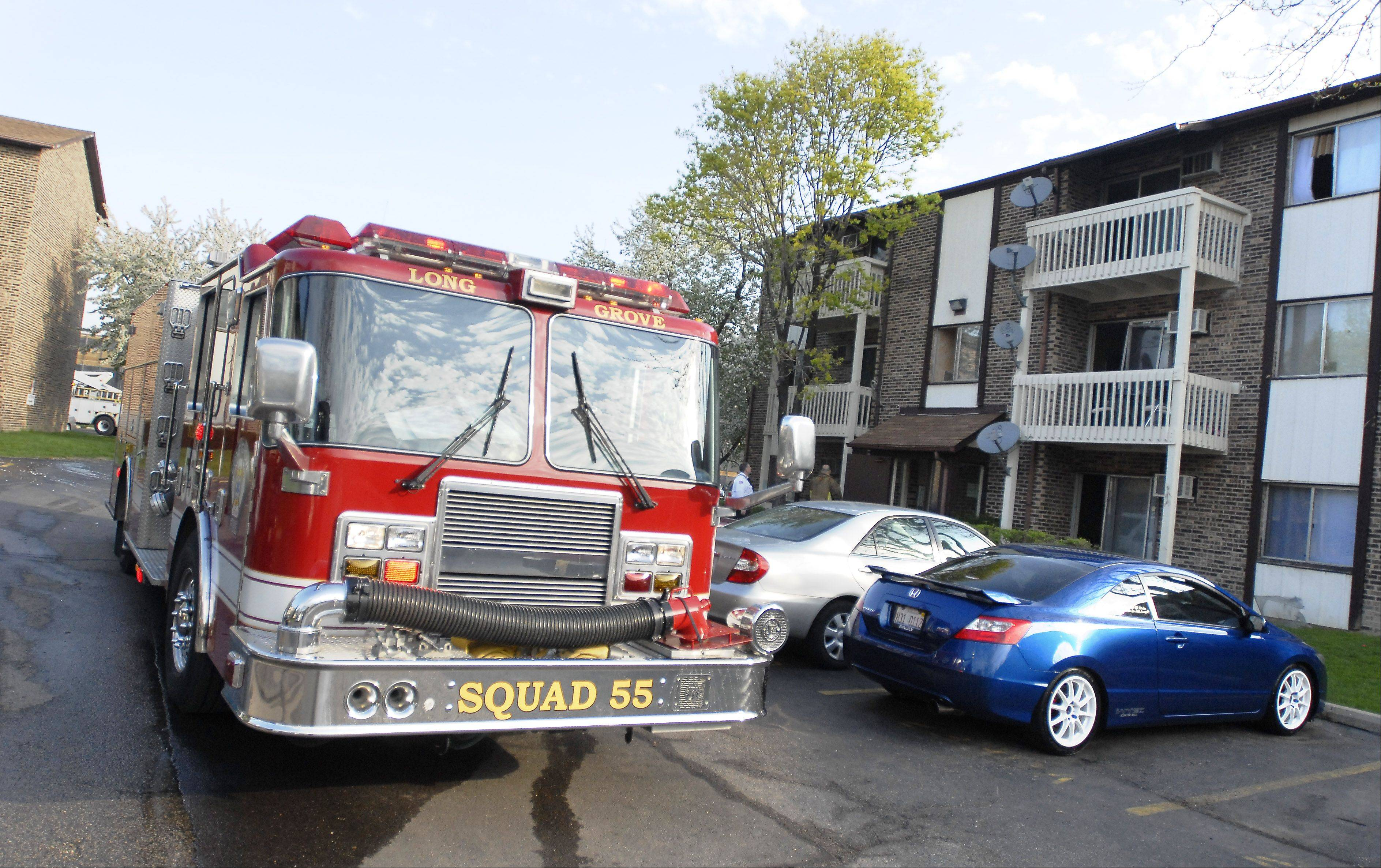 An early morning fire near Arlington Heights left 14 residents of the Country Glen apartments temporarily homeless Tuesday. Officials say the fire occurred in a utility room of a six-unit building.