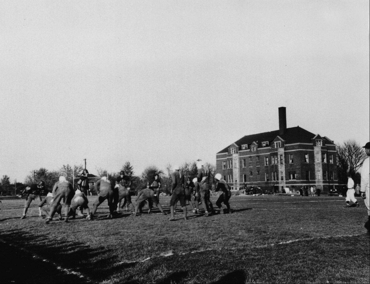 After moving from Mendota to Aurora in 1912, Aurora College hosted its first homecoming celebration in 1930. The institution marked the 100th anniversary of the move Wednesday with historical and musical events and exhibits.