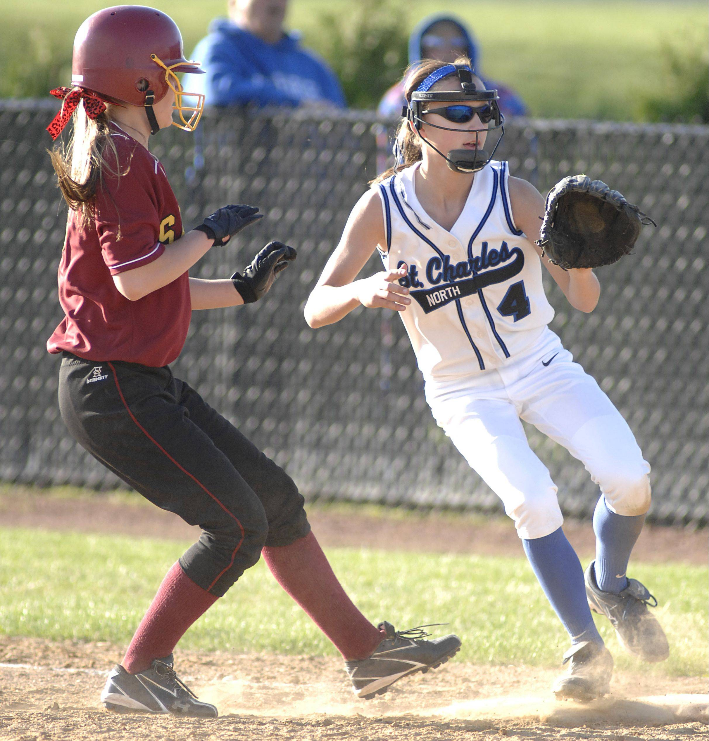St. Charles North's Kaitlyn Waslawski is one of a number of young players playing a key role for area teams this spring.