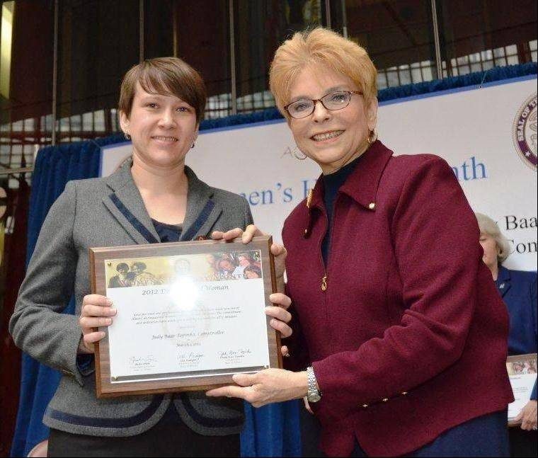 Monika Tietz with Illinois State Comptroller Judy Baar Topinka.