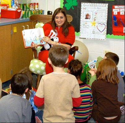 Danya Greenberg reads to students in her class at Rockland School. Libertyville Elementary District 70 will create a second instructional classroom to accommodate up to 10 students requiring special education.