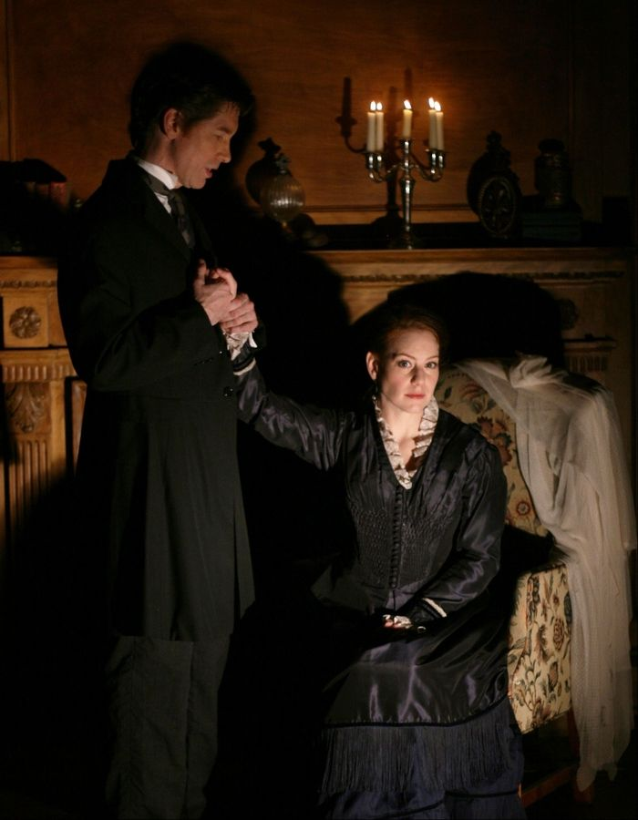 "A young woman (Melanie Keller) accepts a position as governess to the orphaned nephew and niece of a dashing bachelor (Nick Sandys) in First Folio Theatre's production of ""The Turn of the Screw,"" adapted by Jeffrey Hatcher from the psychological thriller by Henry James."