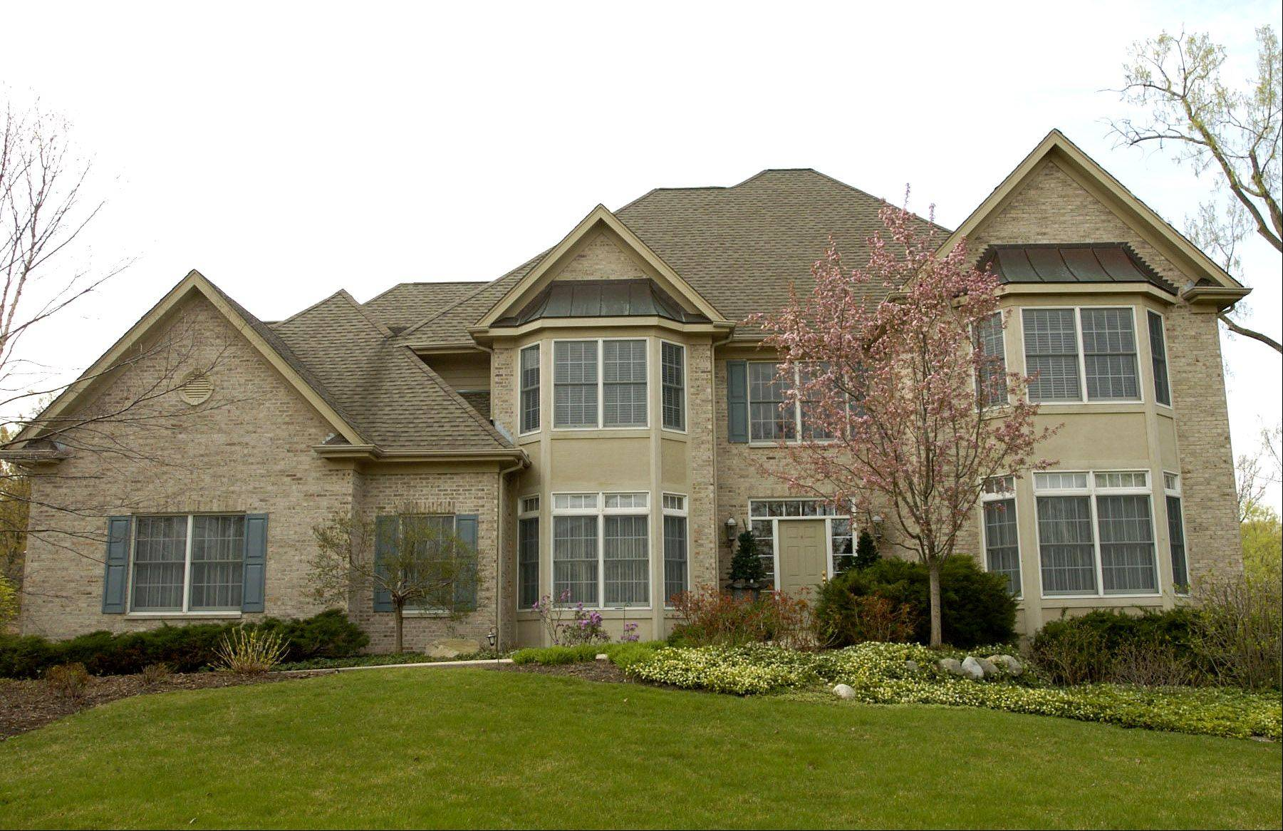 Larger, custom-built homes are found in The Ponds of Kildeer subdivision.