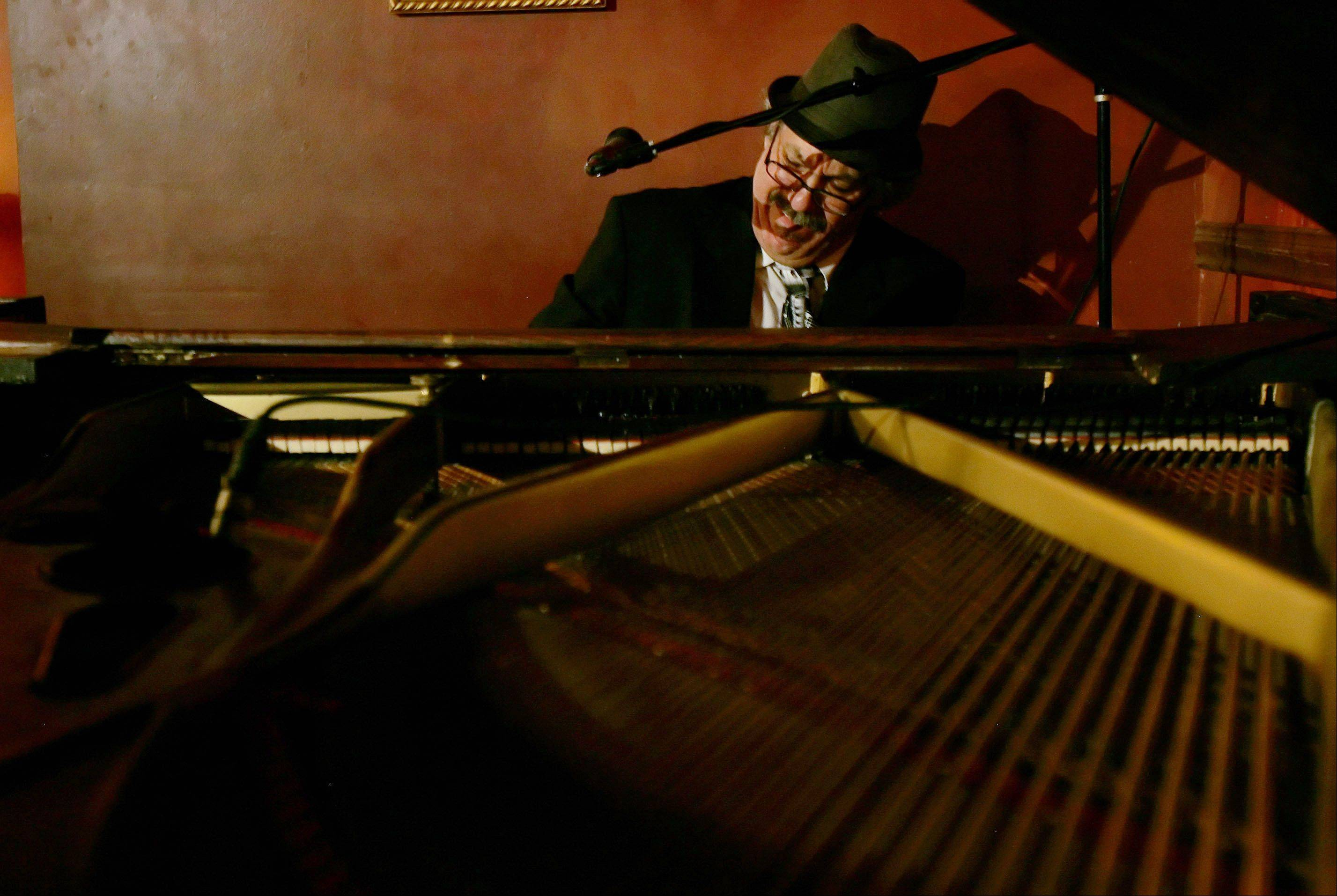 "Barrelhouse Chuck Goering plays ""Barrelhouse Woman"" Wednesday, March 7, at Katerina's nightclub in Chicago. He learned to play the blues from piano legends Sunnyland Slim, Pinetop Perkins, Blind John Davis and Little Brother Montgomery."