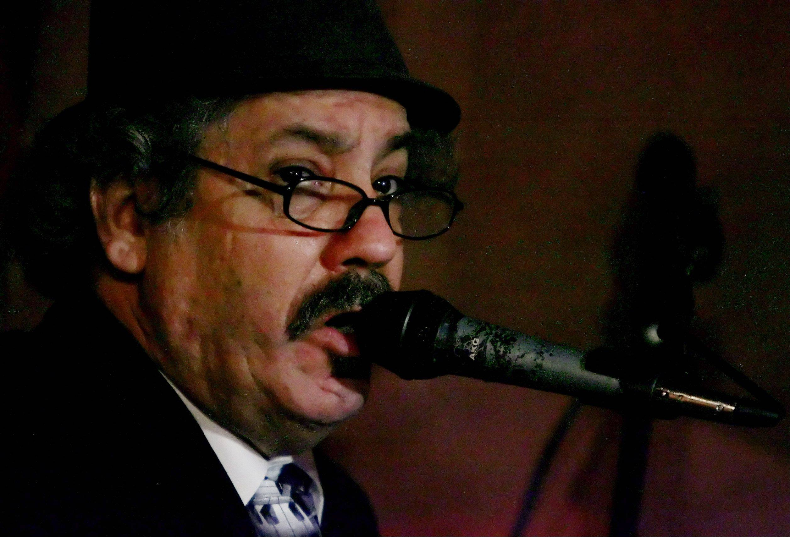 "Barrelhouse Chuck Goering sings ""My Own Lonesome Blues"" Wednesday, March 7, at Katerina's nightclub in Chicago. He played with blues legend Erwin Helfer, taking turns playing sets on the piano throughout the evening."