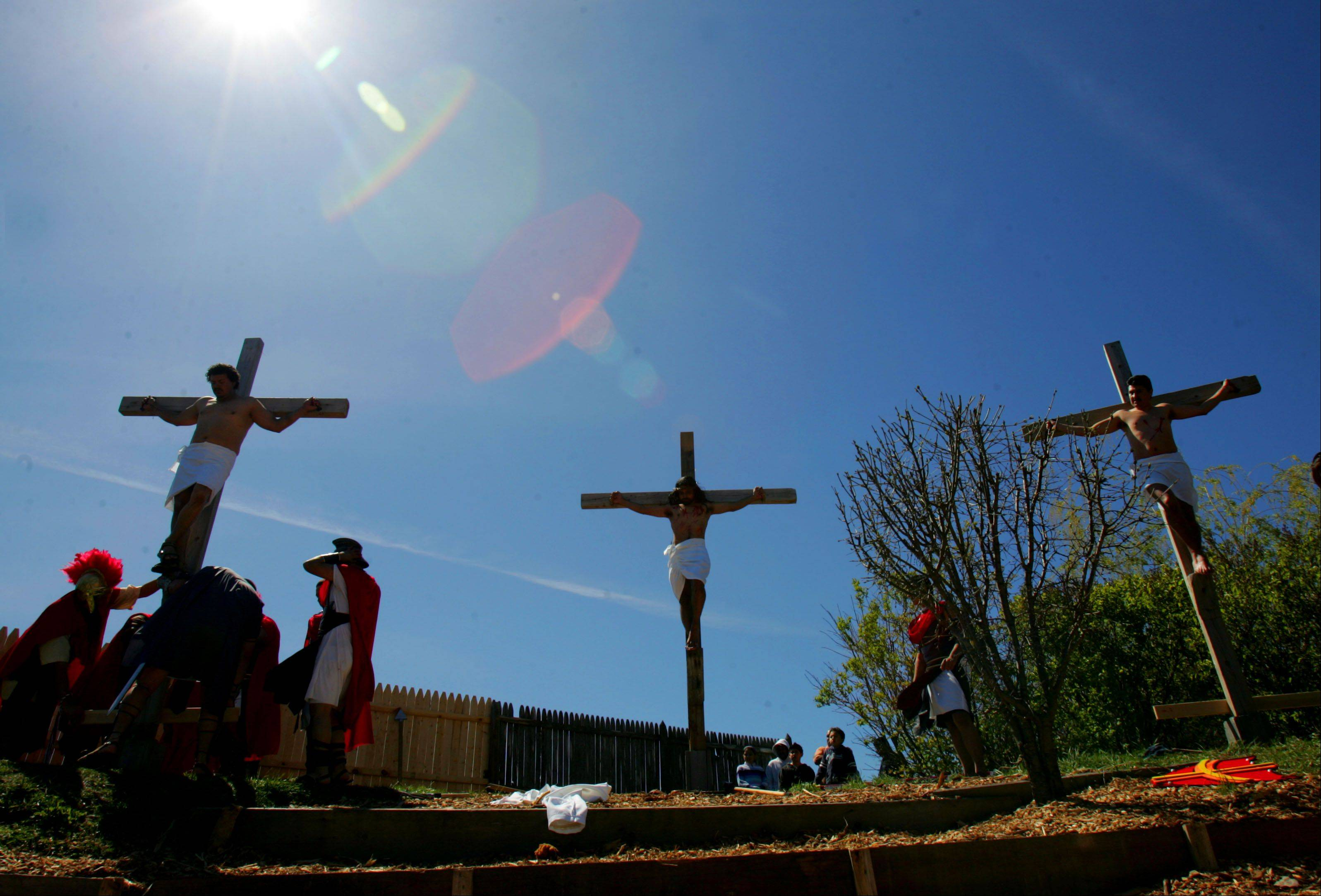 Most Blessed Trinity Parish held their dramatic Via Crucis, also known as Stations of the Cross, Friday afternoon in Waukegan.