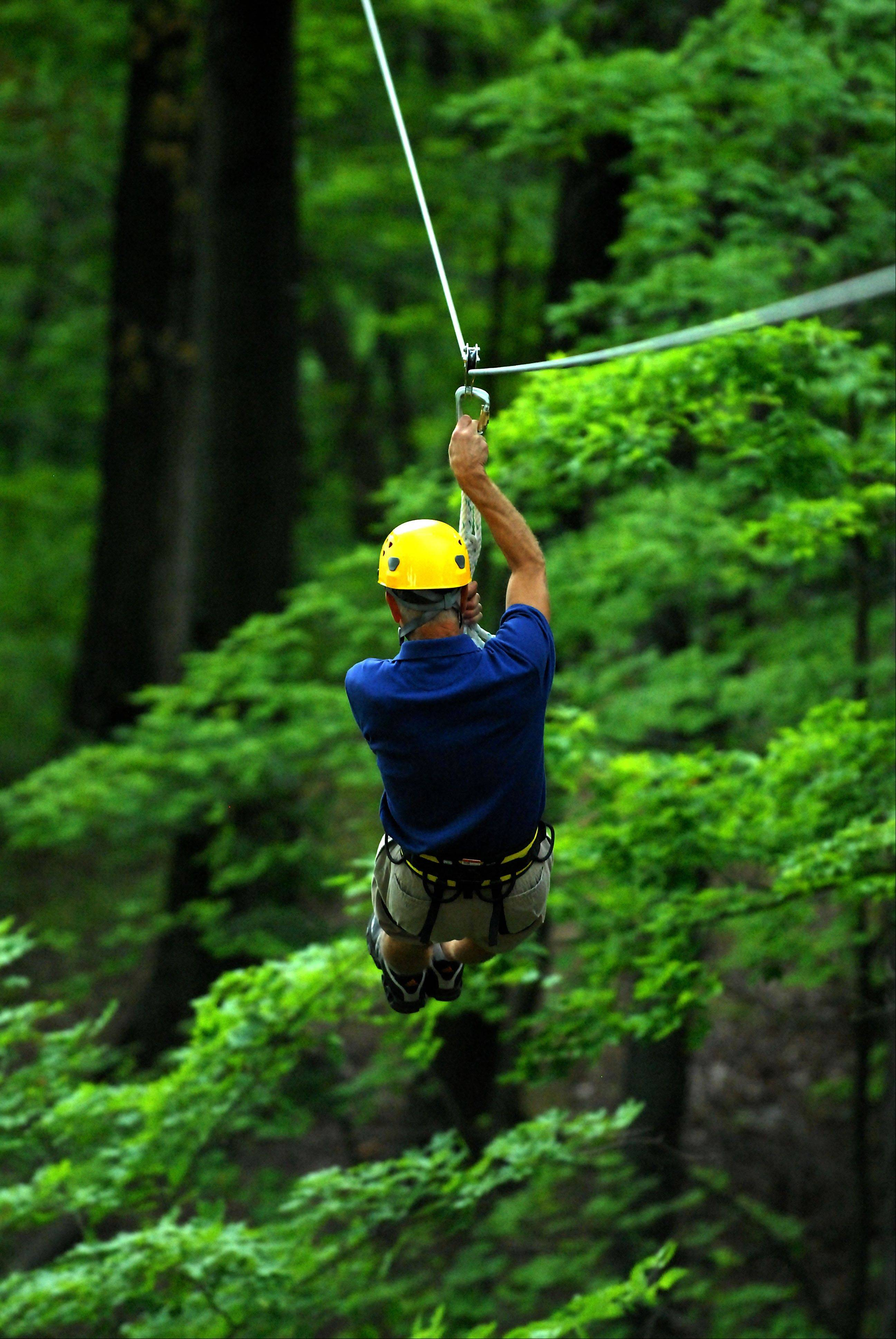 Cross over the Little Miami River at heights of more than 200 feet when you book an Ozone Zipline Adventures in Warren County, Ohio.