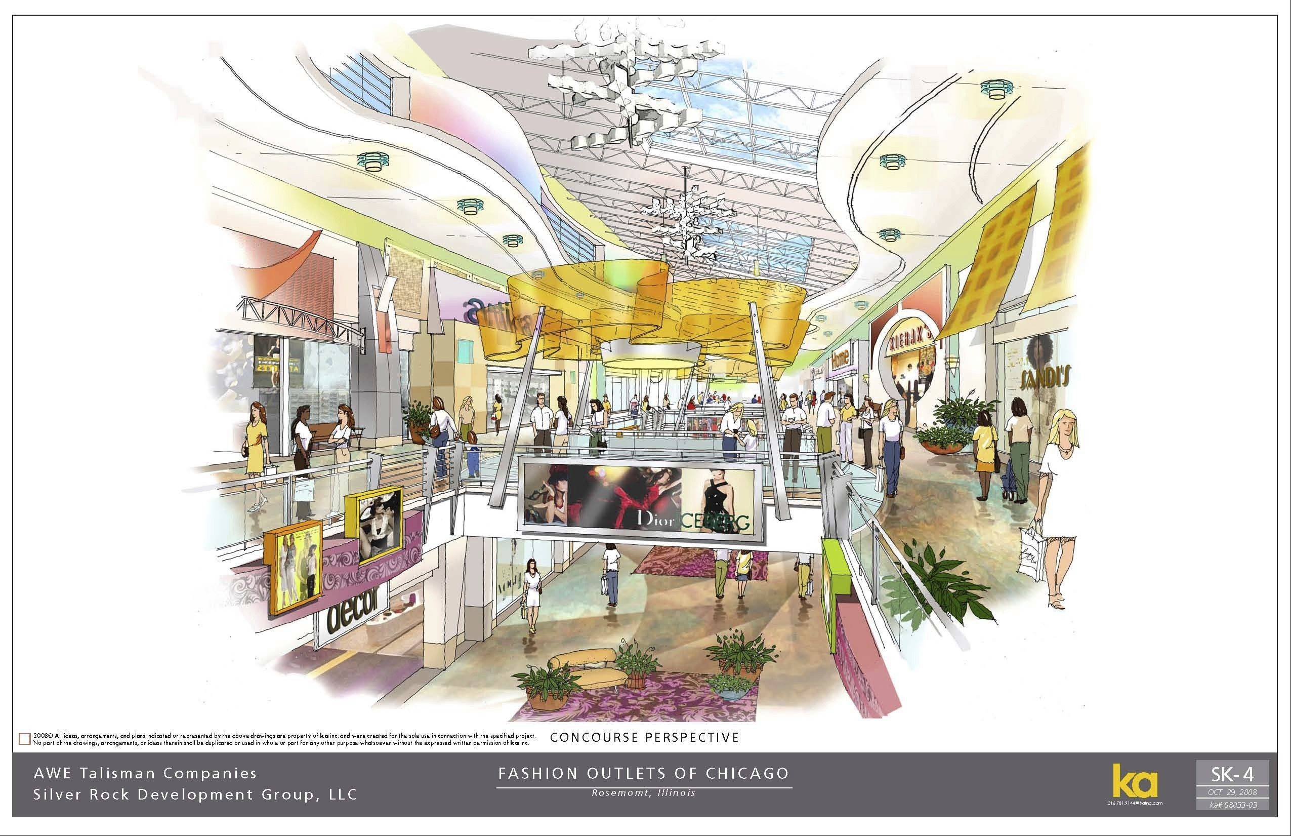This is a representation of what the interior of the outlet mall could look like.