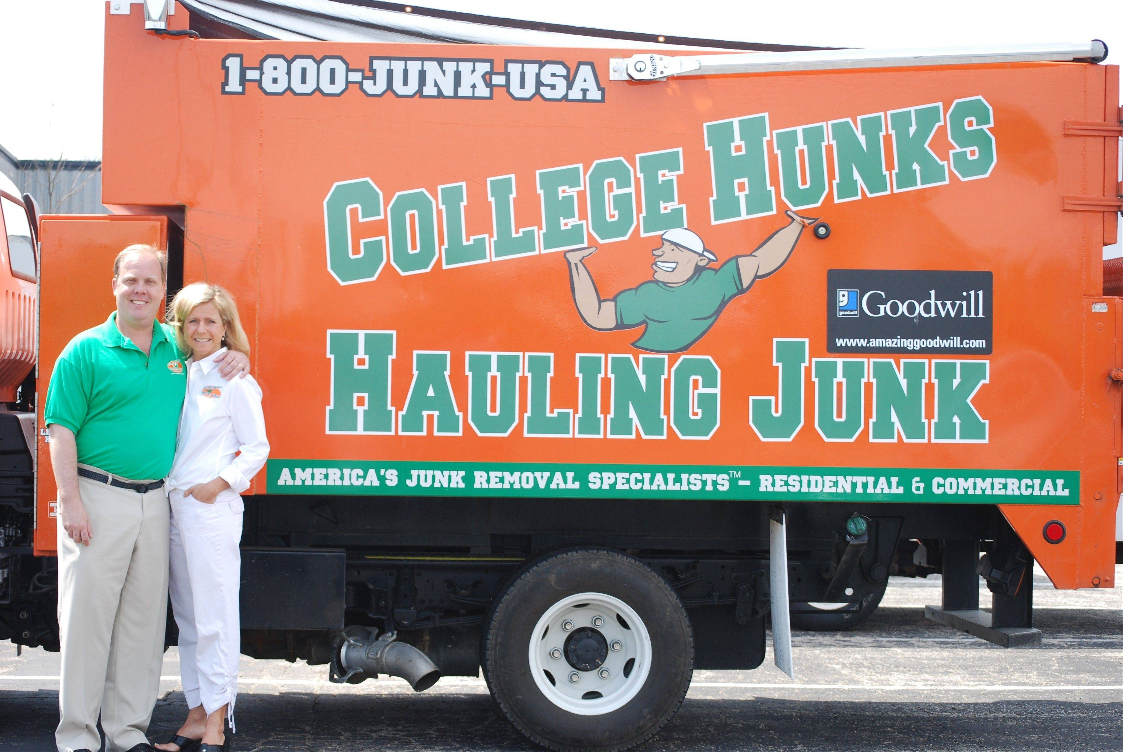 Matt and Sheri Johnson, owners of the College Hunks Hauling Junk franchise in Lake County.
