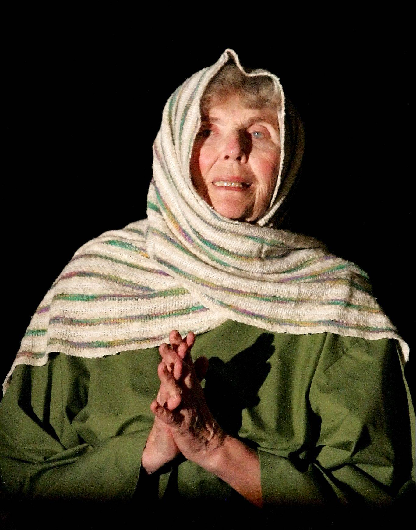 "Elaine Evans in dress rehearsal of ""The Living Last Supper"" at Heritage Presbyterian Church in Carol Stream."